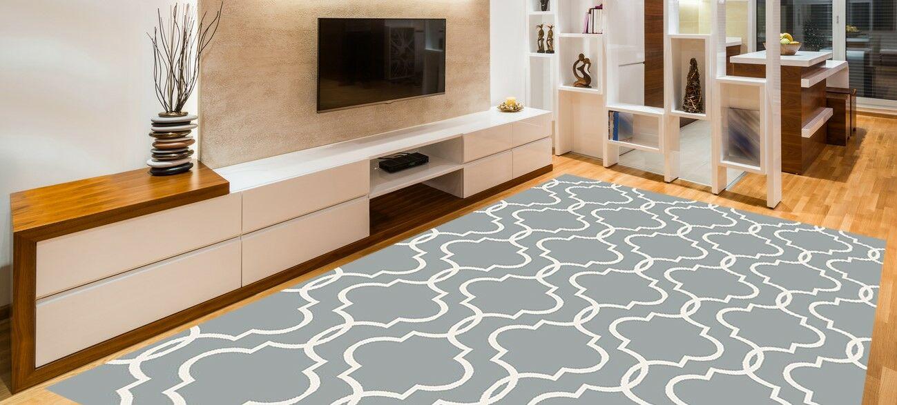 Larrabee Decorative Modern Contemporary Southwestern Gray Area Rug Rug Size: 8' x 10'