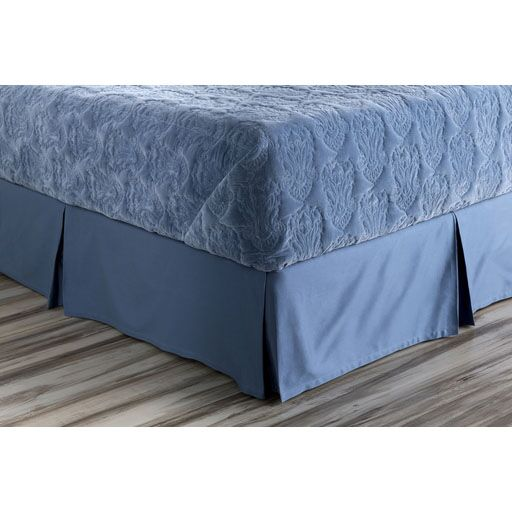 Jewett Bed Skirt Color: Blue, Size: King