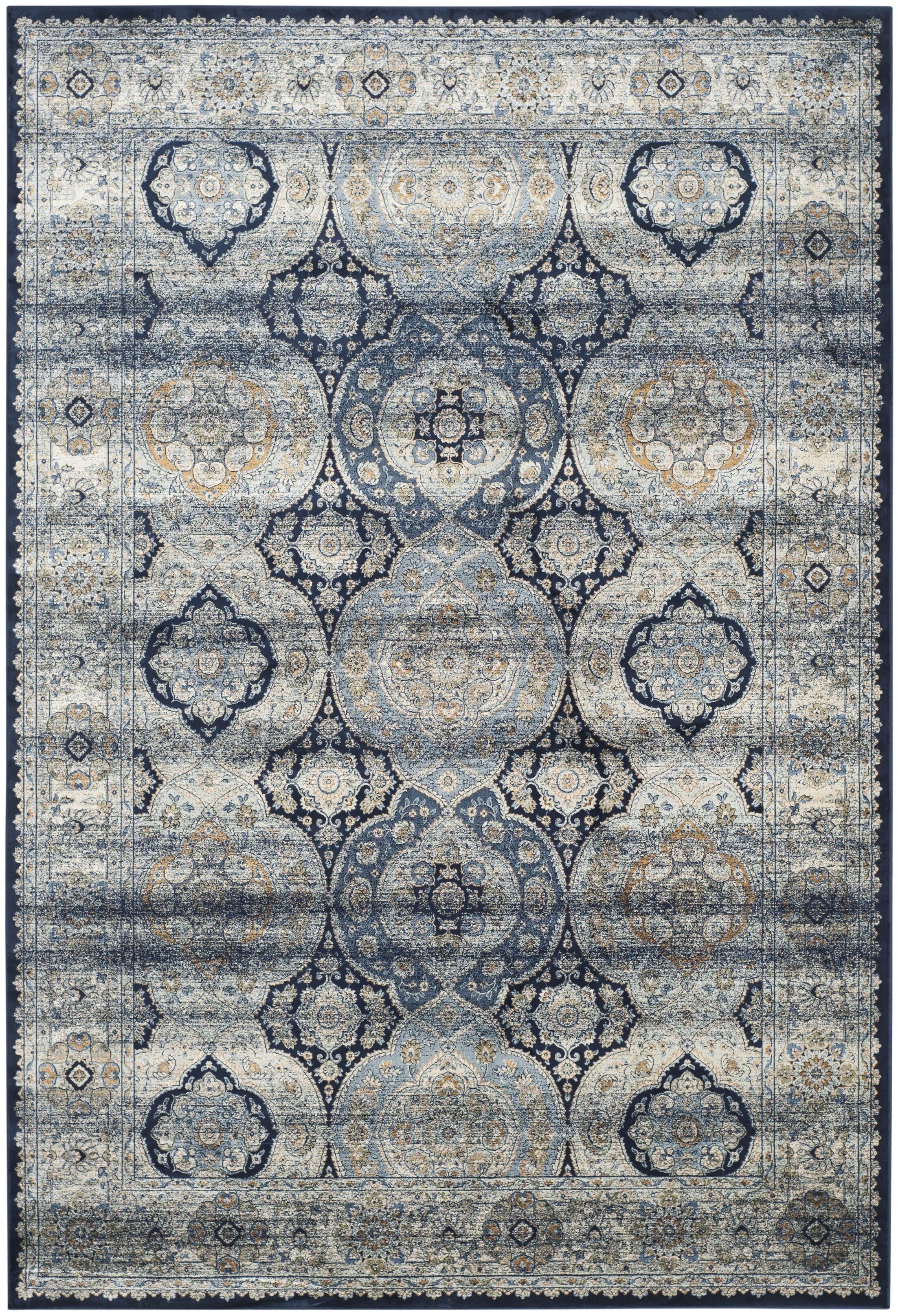 Persian Garden Vintage Navy/Ivory Area Rug Rug Size: Rectangle 8' x 11'2