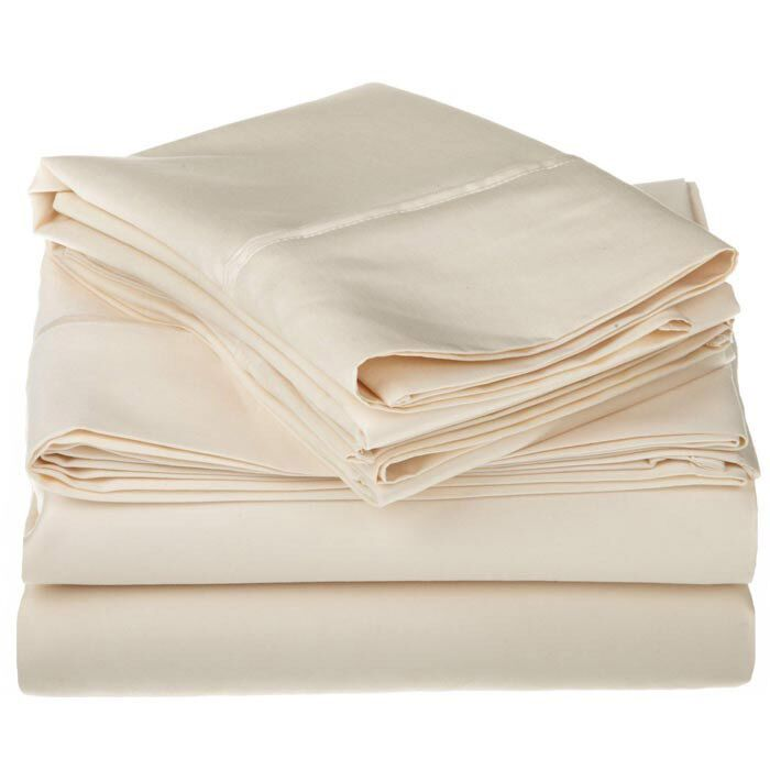 Superior 1200 Thread Count 100% Cotton Sheet Set Color: Ivory, Size: King