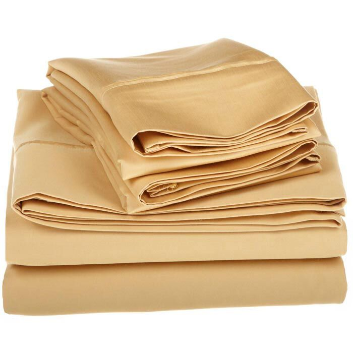 Superior 1200 Thread Count 100% Cotton Sheet Set Color: Gold, Size: Full