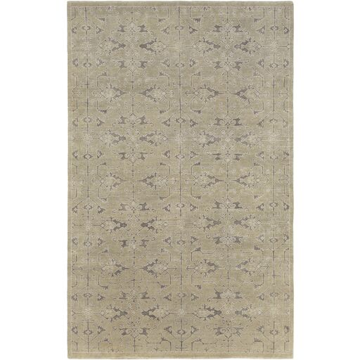 Chebanse Hand-Knotted Beige Area Rug Rug Size: Rectangle 6' x 9'