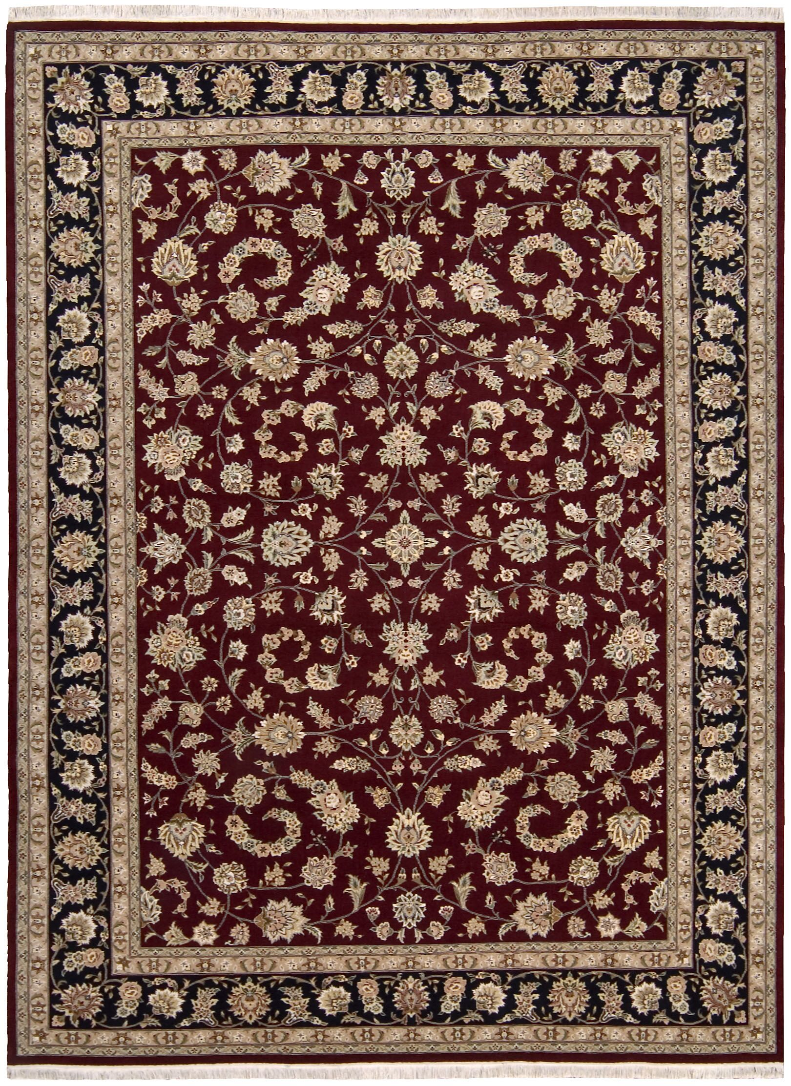 Beason Handmade Burgundy Area Rug Rug Size: Rectangle 8'6