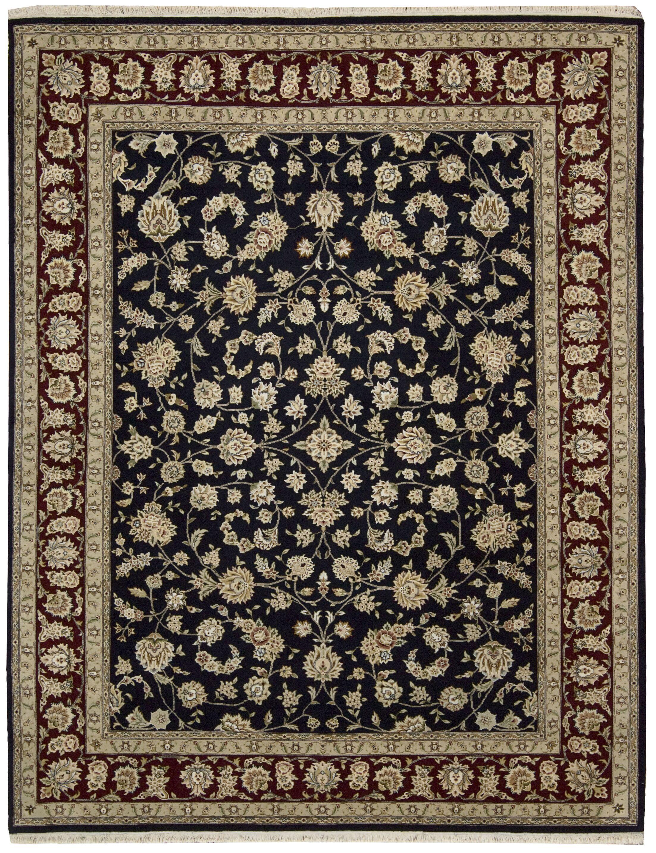 Royalty Hand-Woven Wool Black Area Rug