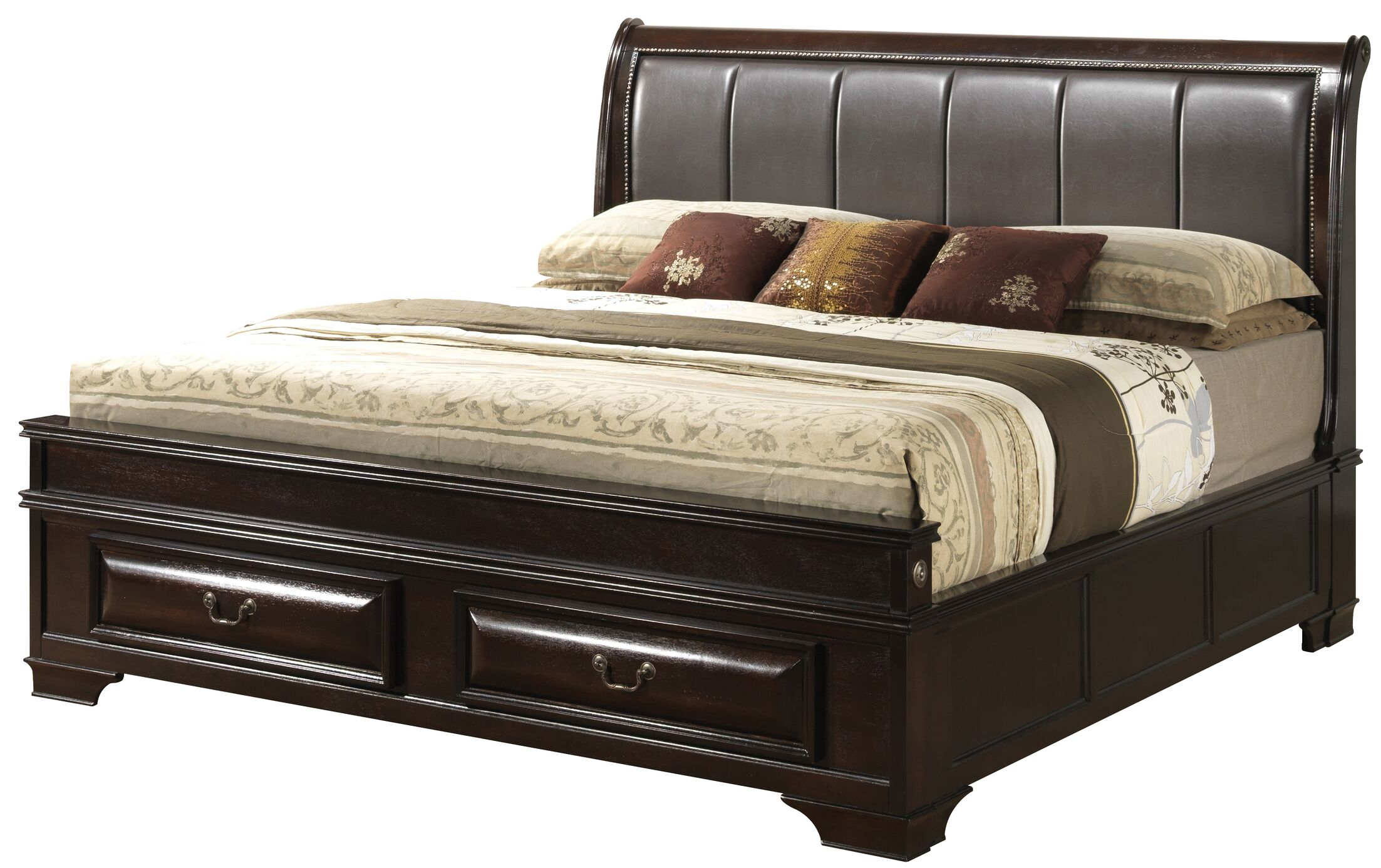 Edwardsville Upholstered Storage Platform Bed Size: Queen, Color: Cappuccino