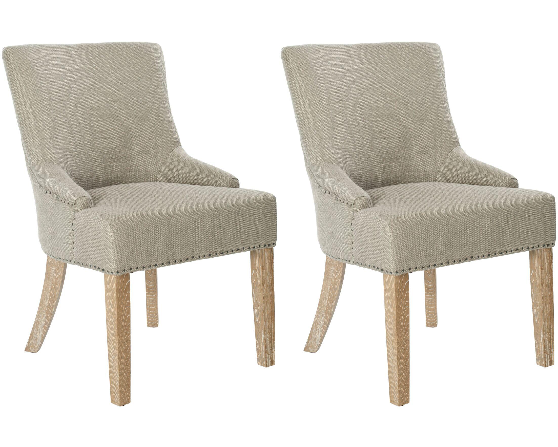 York Upholstered Dining Chair Upholstery Color: Biscuit Beige, Leg Color: Pickled Oak