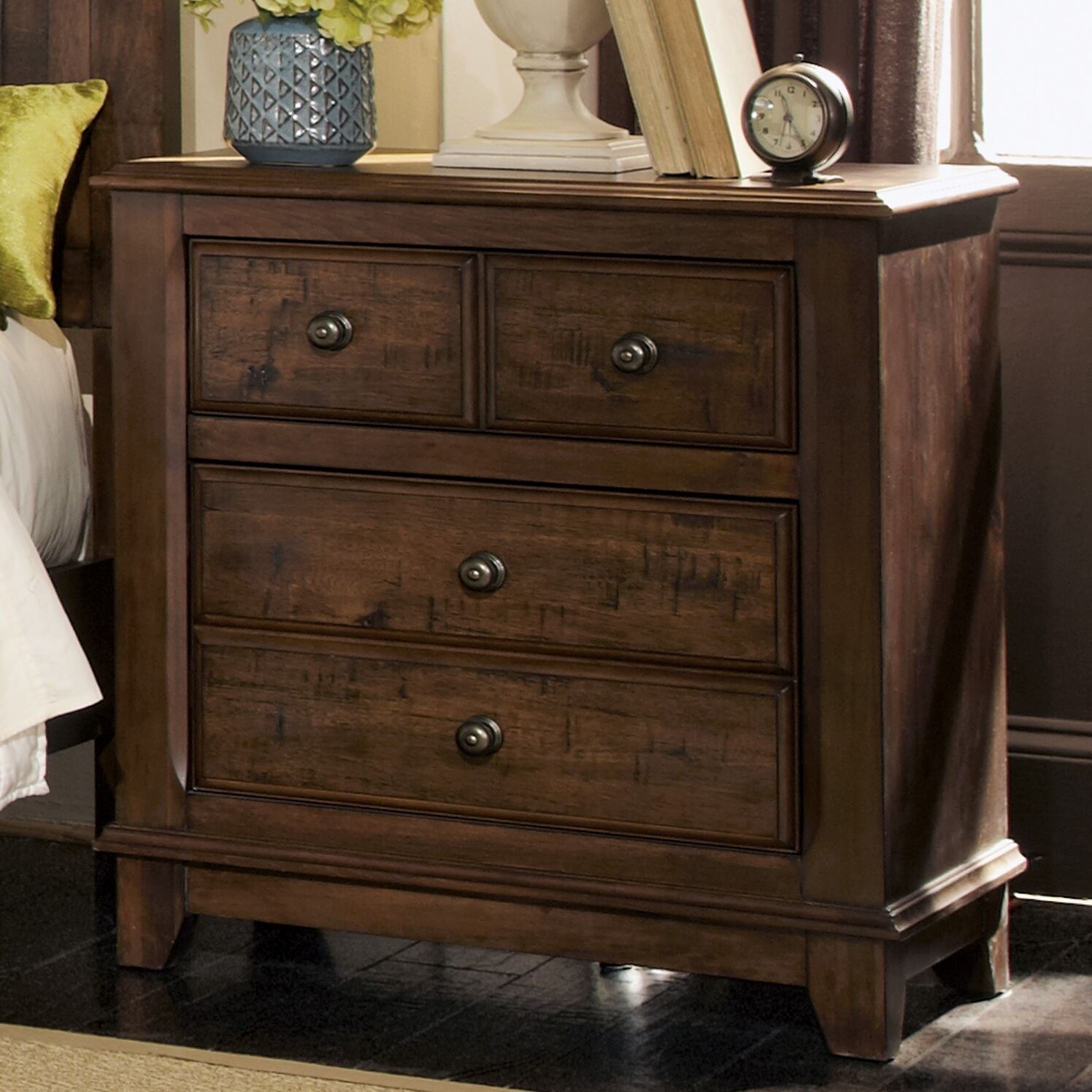 Momea 2 Drawer Nightstand