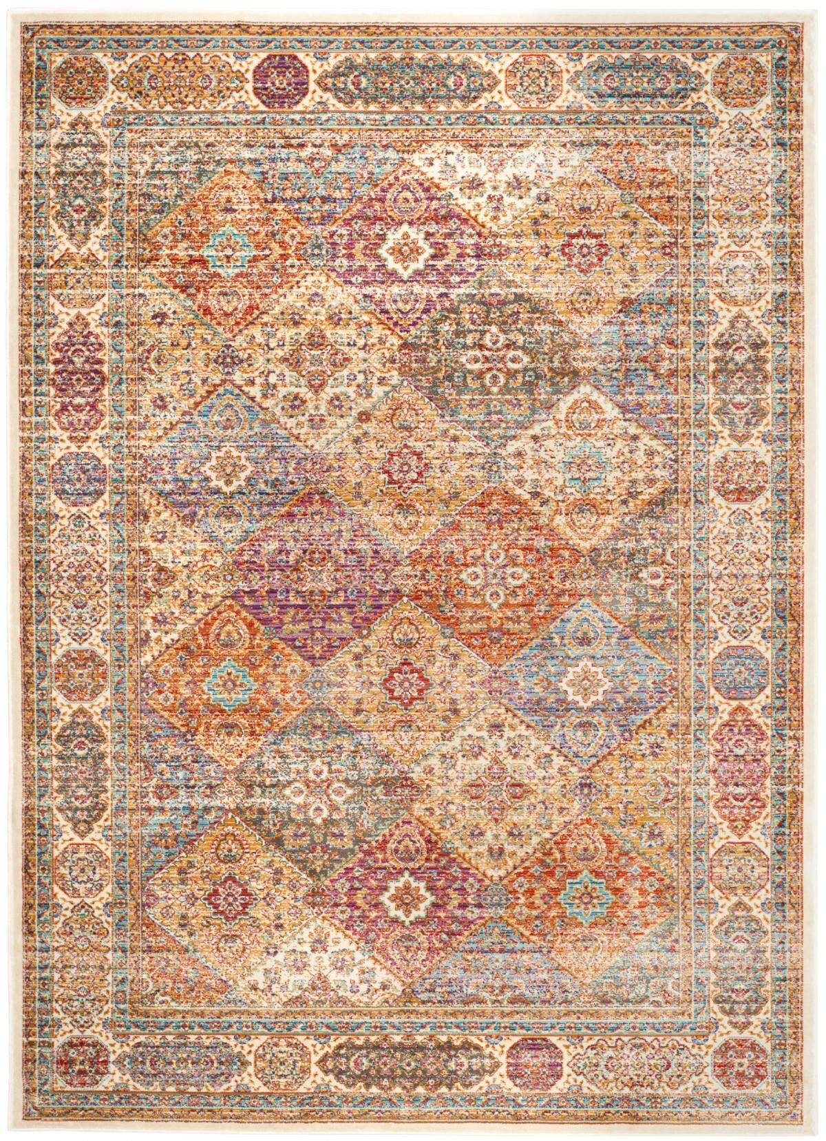 Enlow Ivory Area Rug Rug Size: Rectangle 9'6