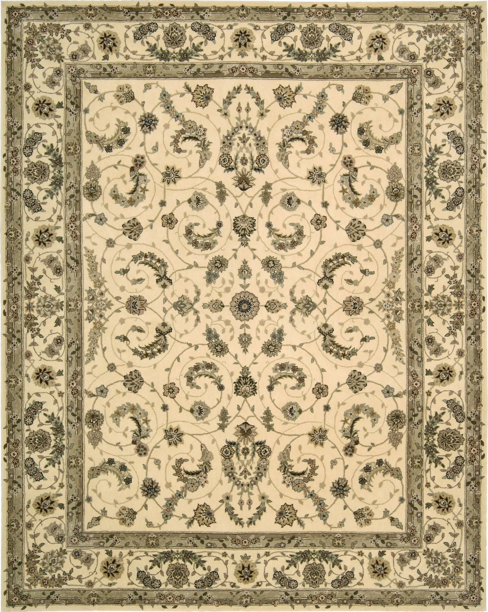 Hemming Hand-Tufted Ivory Area Rug Rug Size: Rectangle 3'6
