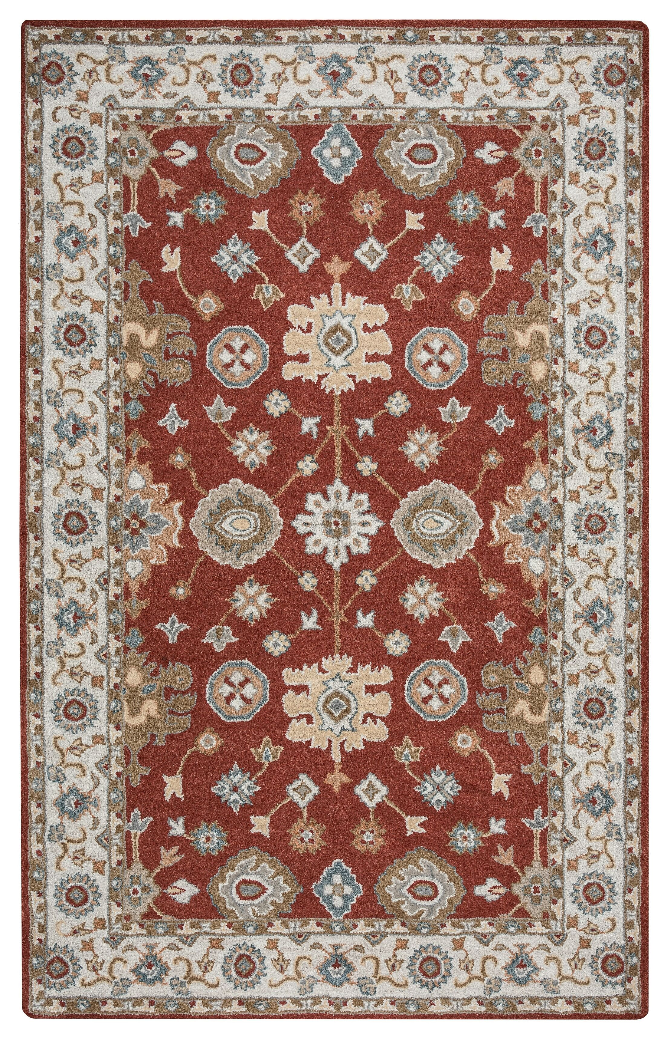 Lamothe Hand-Tufted Rust Area Rug Rug Size: Rectangle 8' x 10'