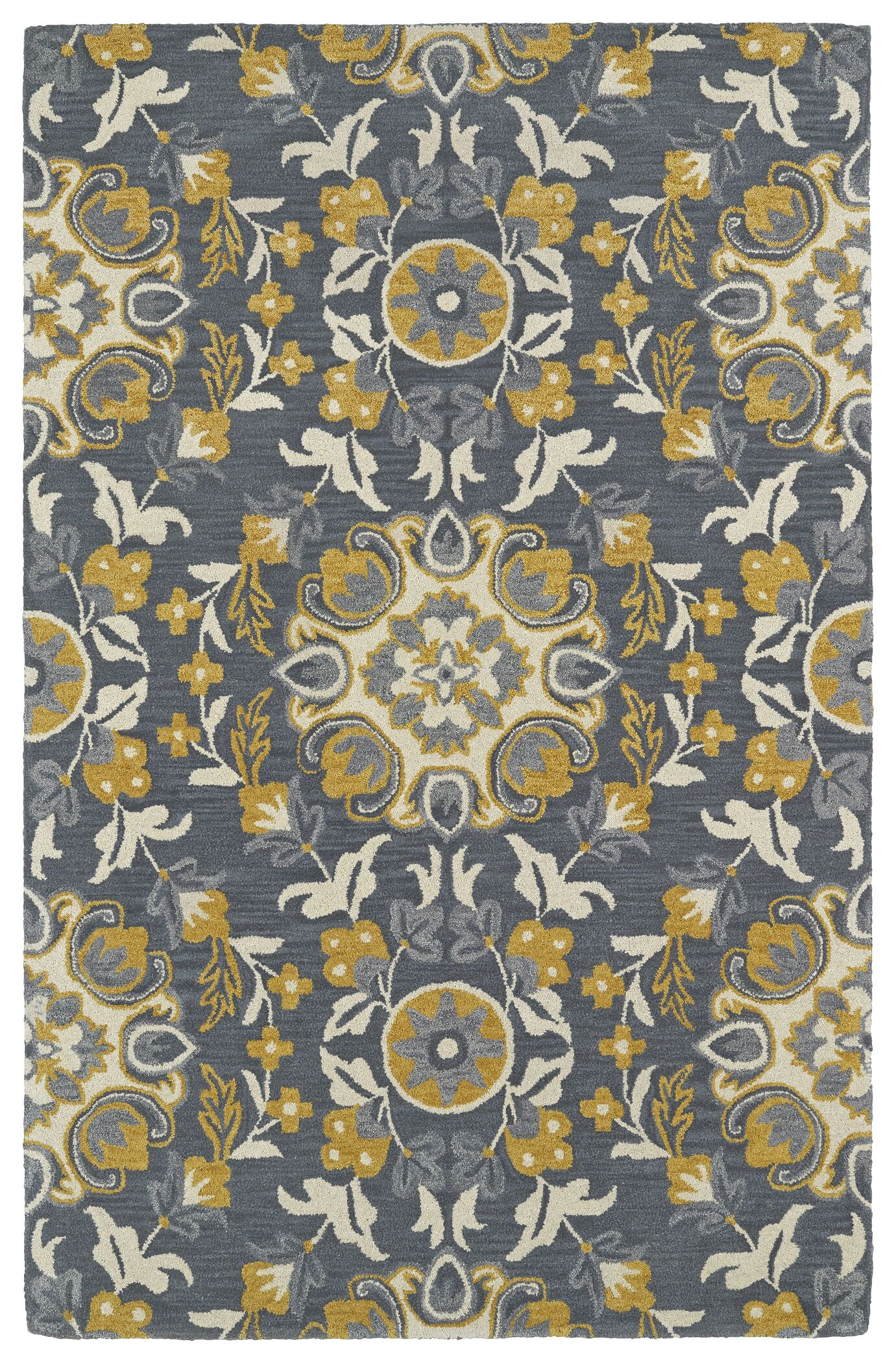 Tunstall Hand-Tufted Wool Gray Area Rug Rug Size: Rectangle 5' x 8'