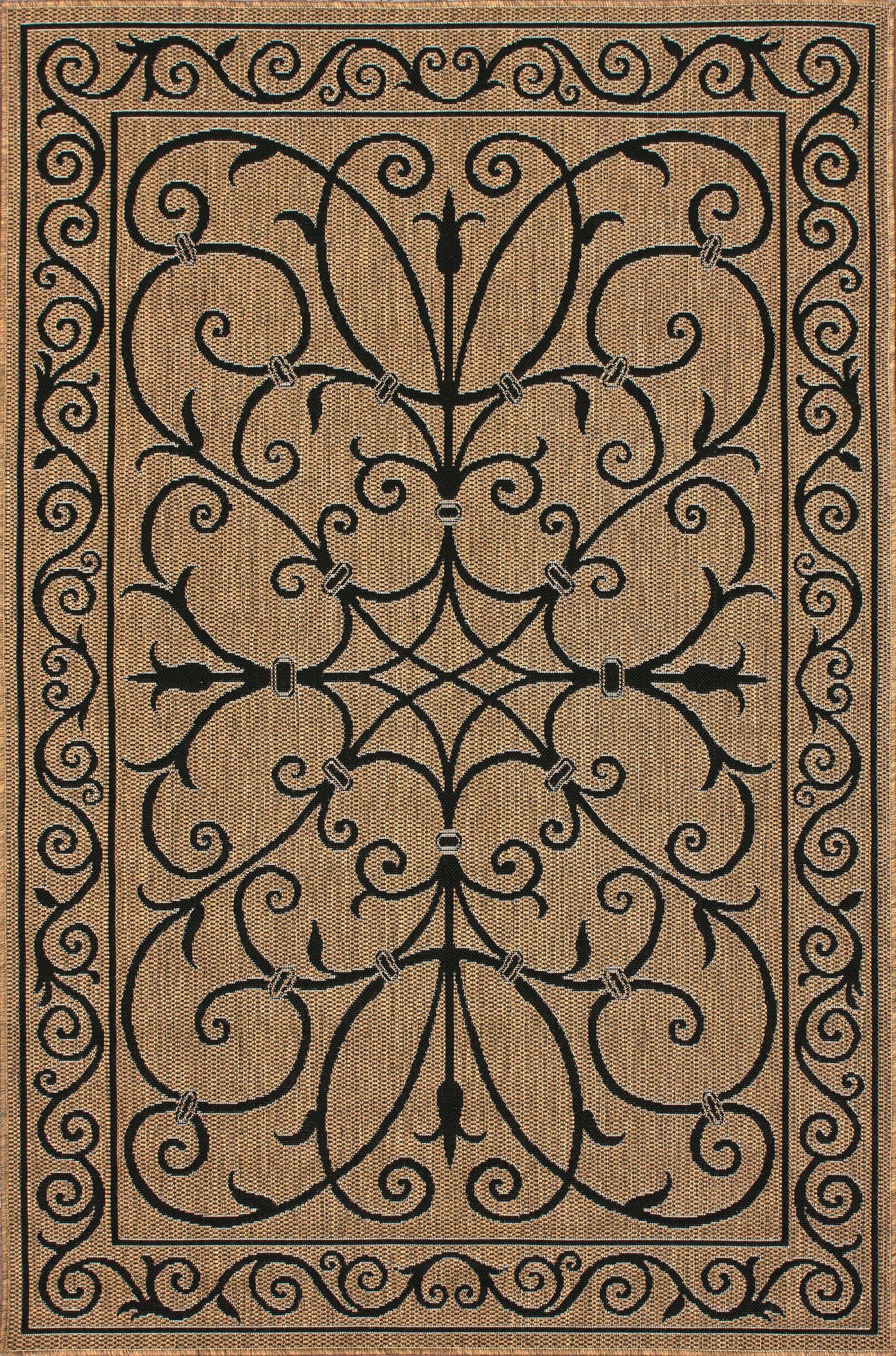 Eldred Brown Indoor/Outdoor Area Rug Rug Size: Rectangle 9'11