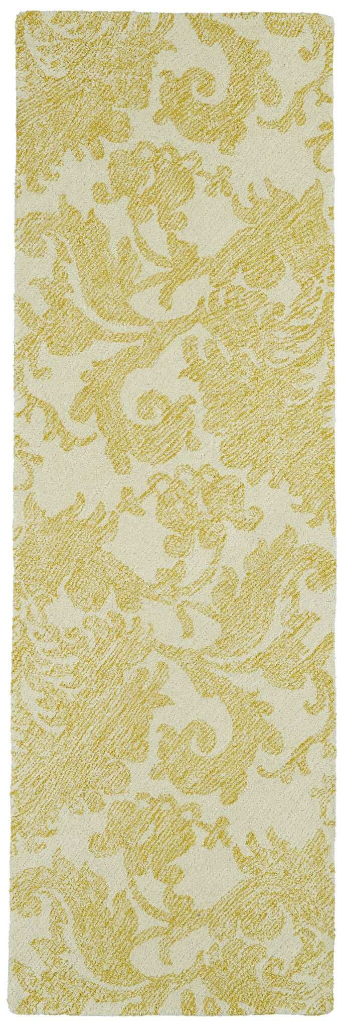Rosalind Hand-Tufted Gold Area Rug Rug Size: Runner 2'6