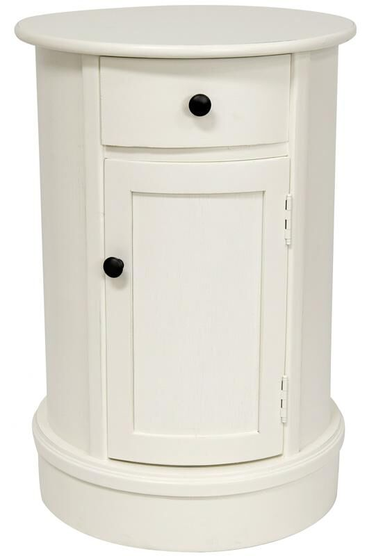 Destin 1 Drawer Nightstand Color: White