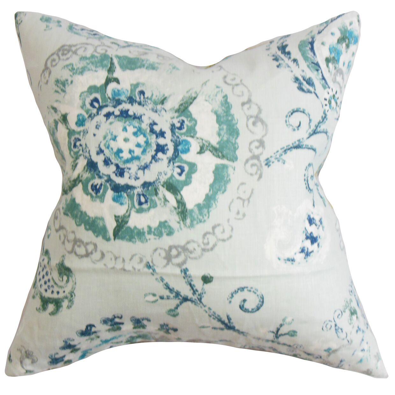 Haydenville Floral Bedding Sham Size: Euro, Color: Blue