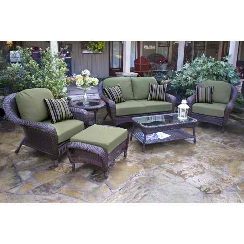 Carlock 6 Conversation Sofa Set with Cushions Color: Mojave, Fabric: Canvas Rust