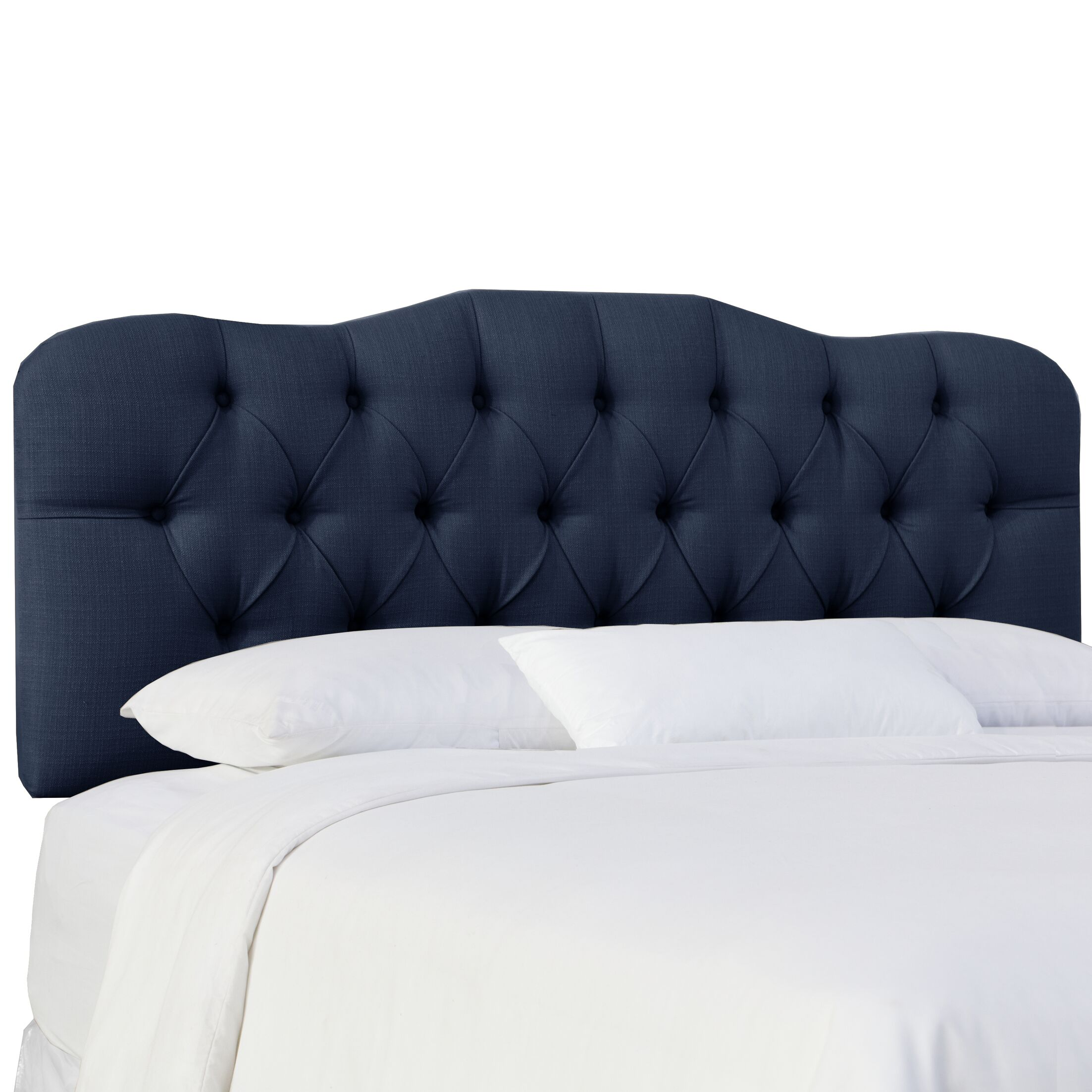 Cockerham Tufted Upholstery Panel Headboard Size: California King, Upholstery: Klein Midnight