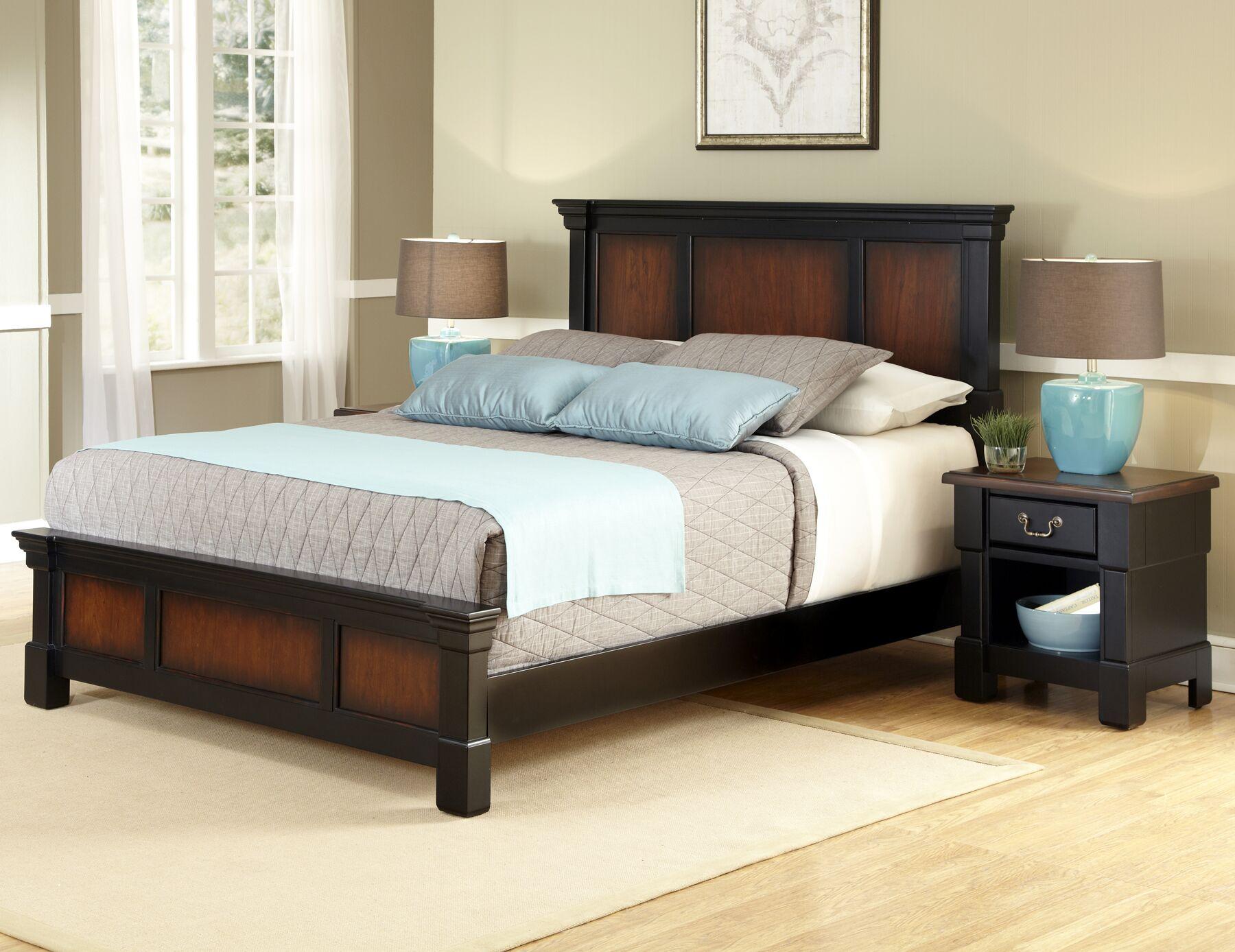 Cargile Panel 2 Piece Bedroom Set Size: Queen, Finish: Rustic Cherry / Black