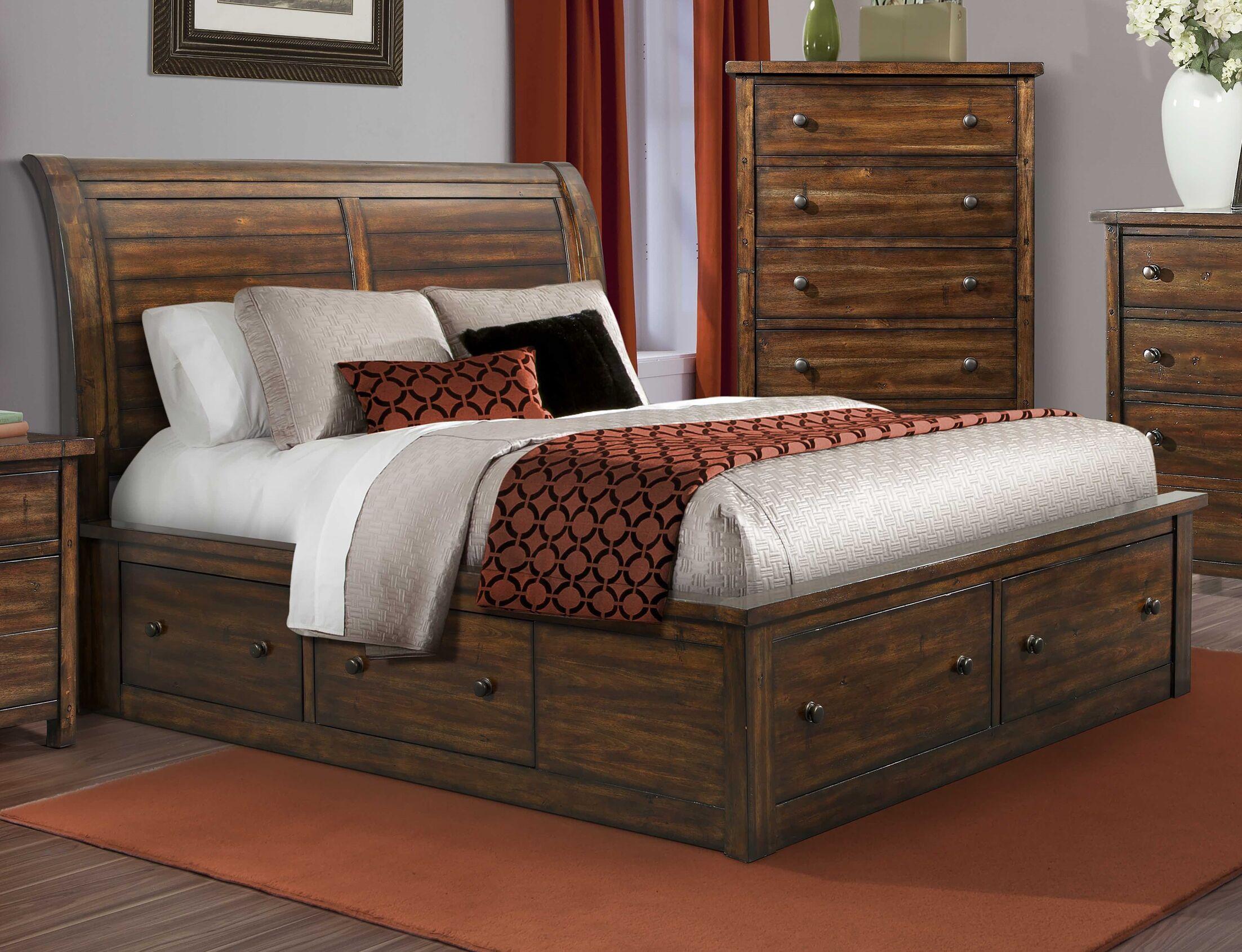 Headrick Storage Platform Bed