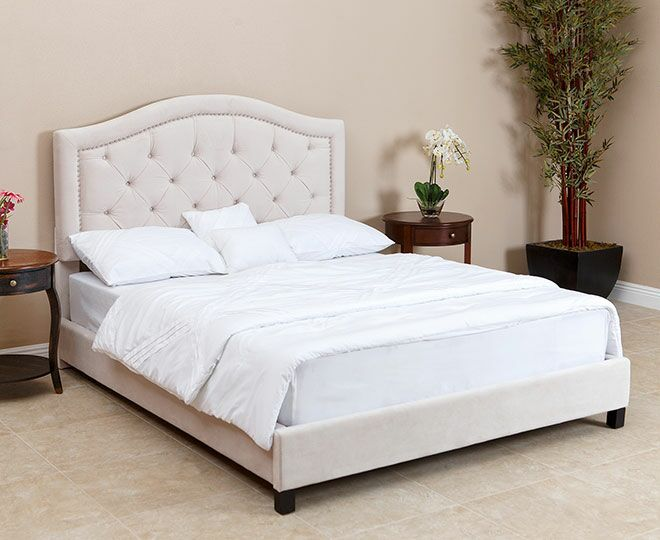 Stolle Queen Upholstered Platform Bed Color: Ivory