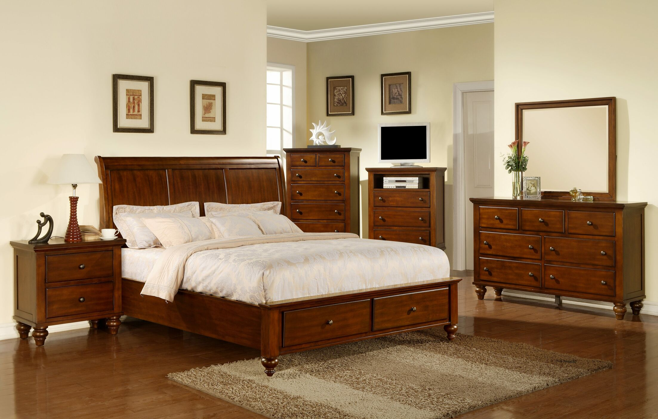Verrett Storage Platform 4 Piece Bedroom Set Size: Queen