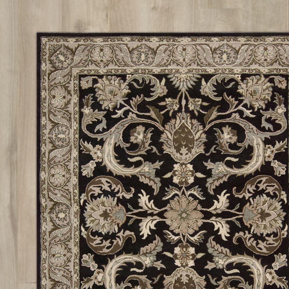 Carthage Hand-Tufted Black Area Rug