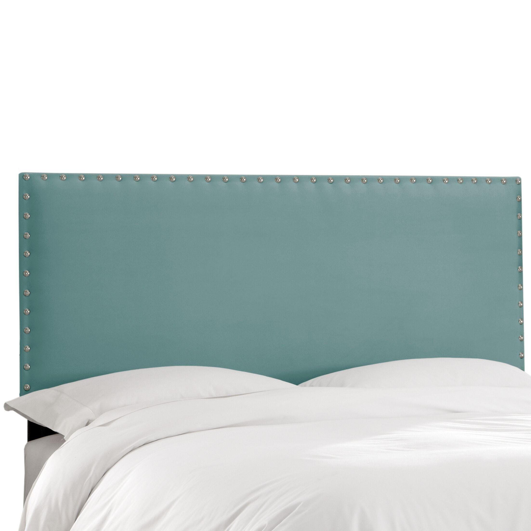 Aldan Upholstered Panel Headboard Size: King, Upholstery: Velvet Caribbean