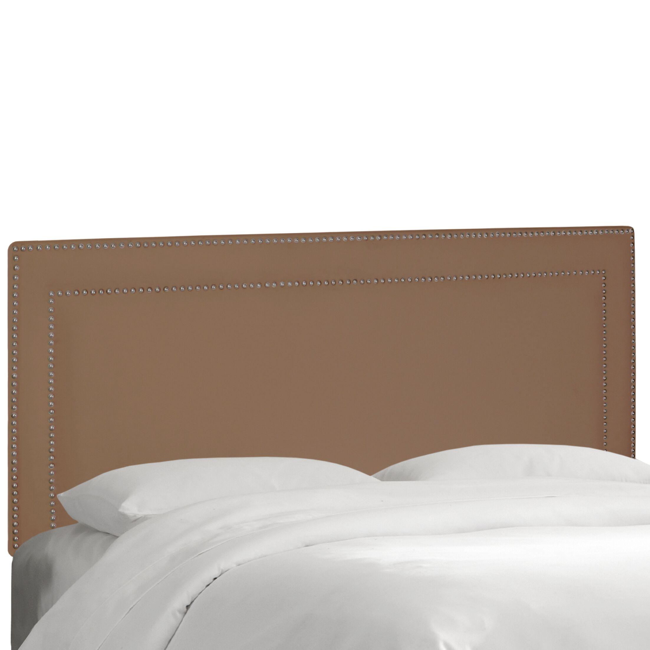Albertina Upholstered Panel Headboard Size: King, Upholstery: Velvet Cocoa