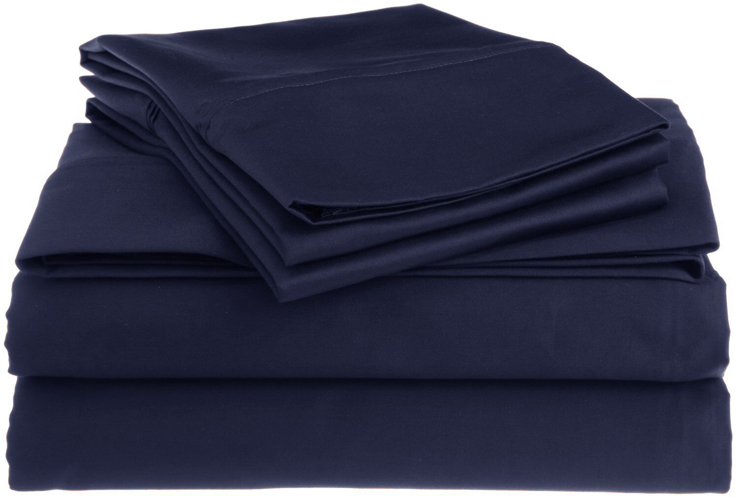 Superior 1200 Thread Count 100% Cotton Sheet Set Size: King, Color: Navy Blue