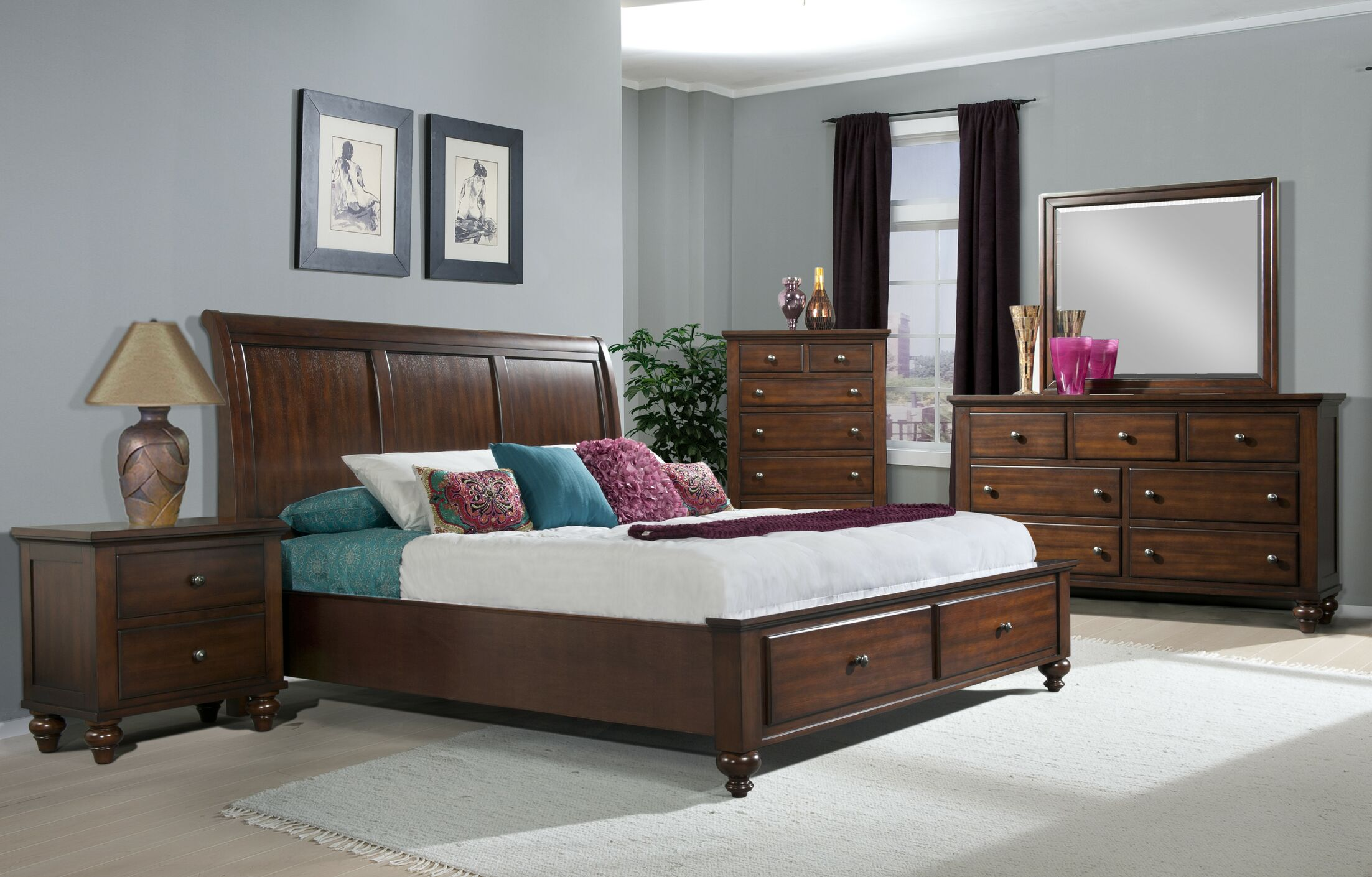 Platform 3 Piece Bedroom Set Bed Size: Full
