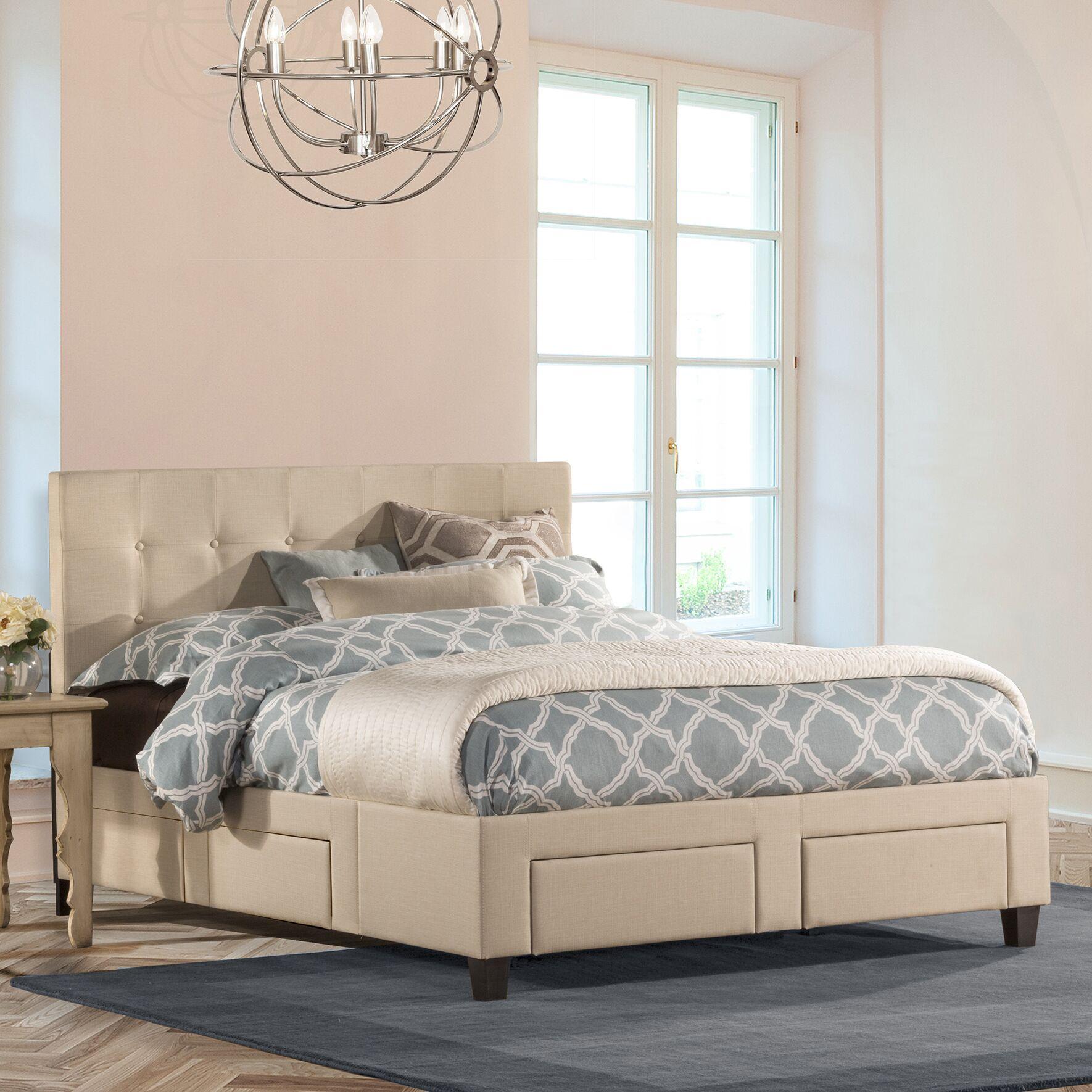 Milla Upholstered Storage Platform Bed Size: King