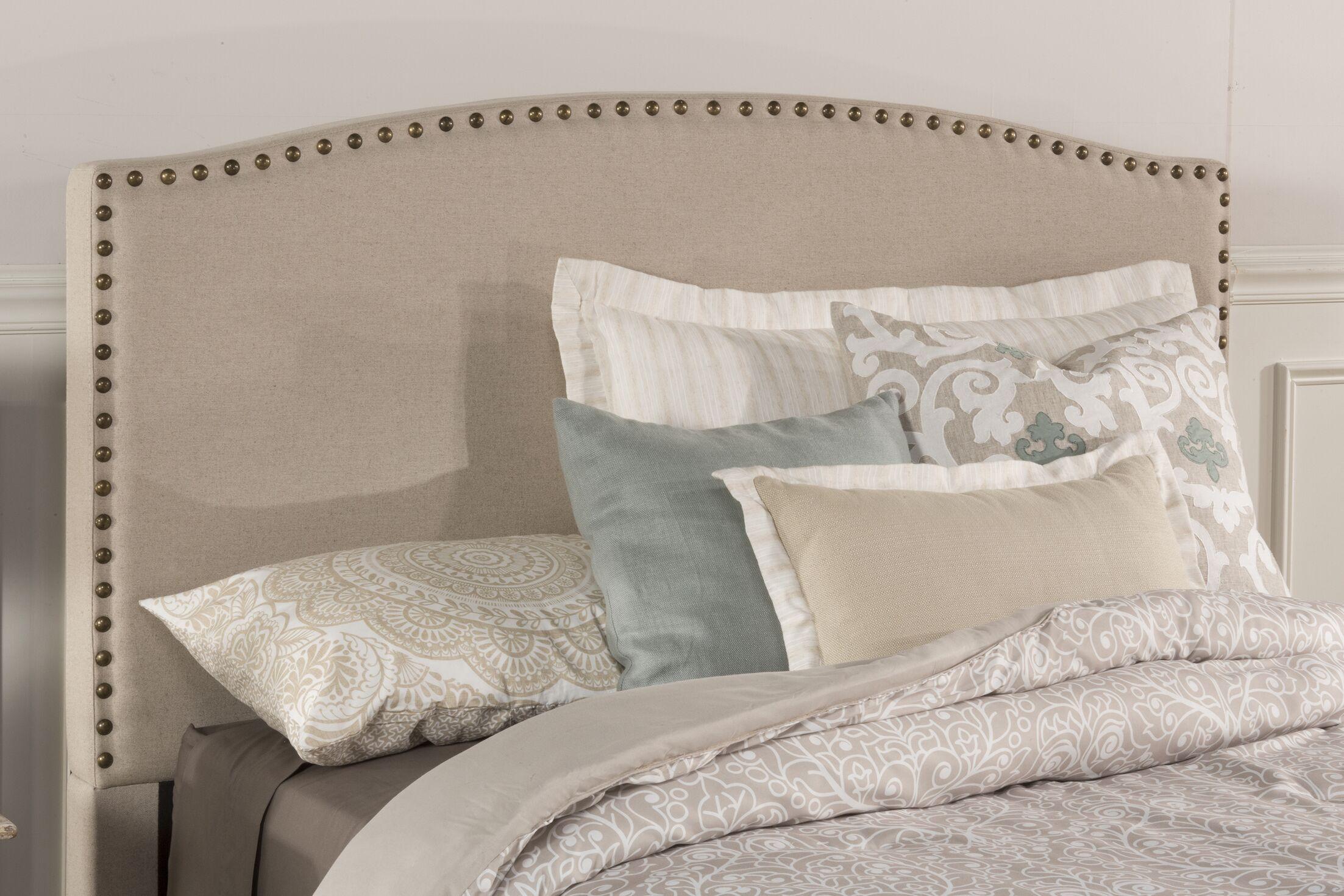 Granger Upholstered Panel Headboard Size: Twin, Upholstery: Light Taupe