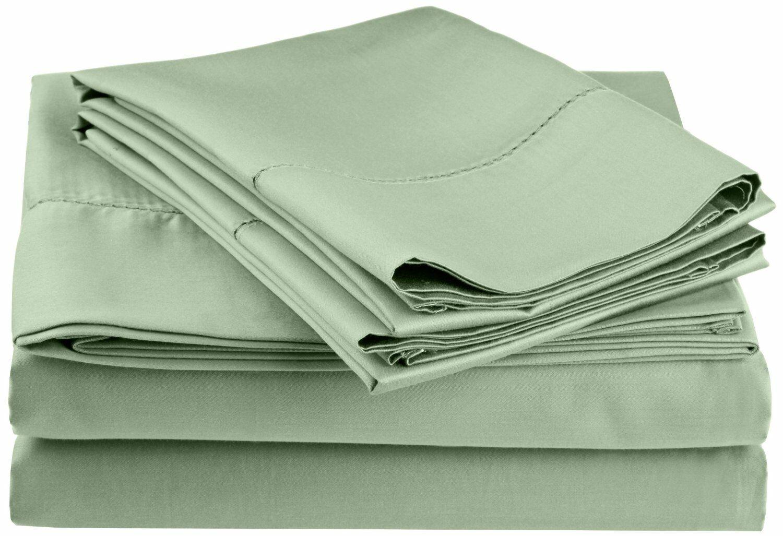 Freeburg 600 Thread Count Sheet Set Color: Sage, Size: California King
