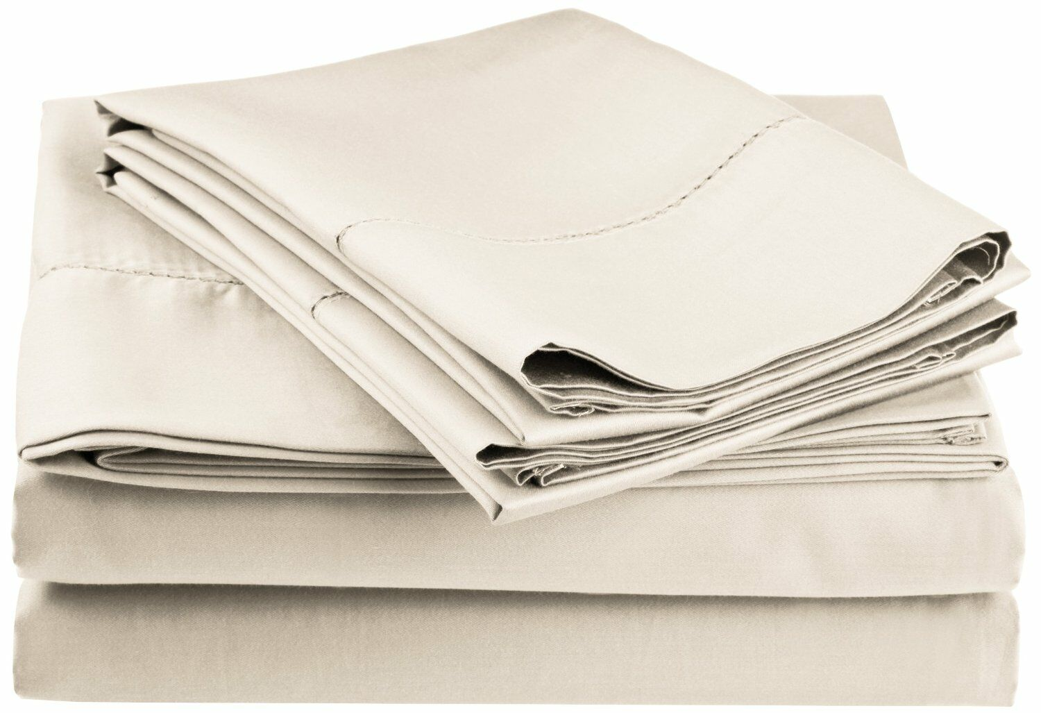 Freeburg 600 Thread Count Sheet Set Color: Ivory, Size: King