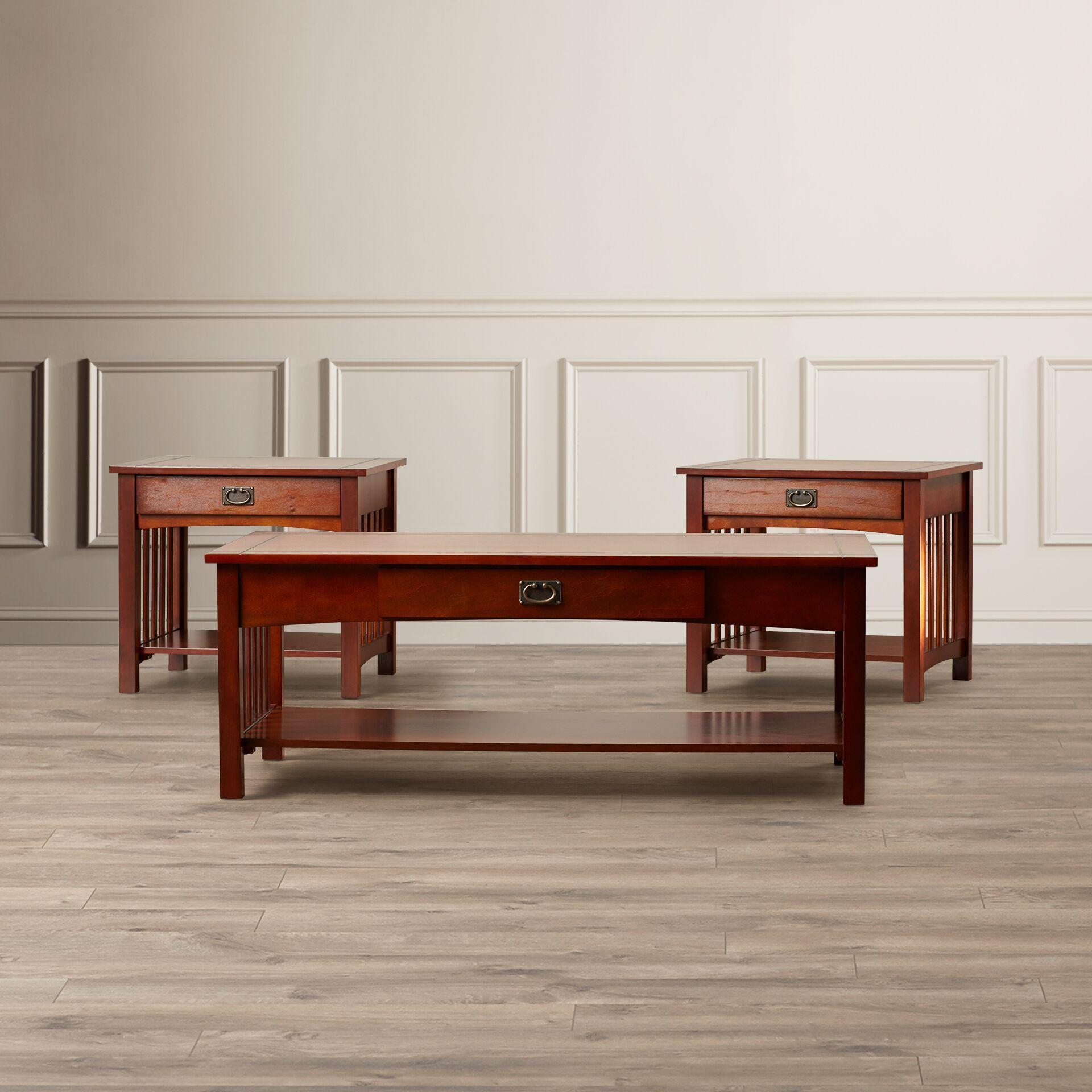 Harvel 3 Piece Coffee Table Set