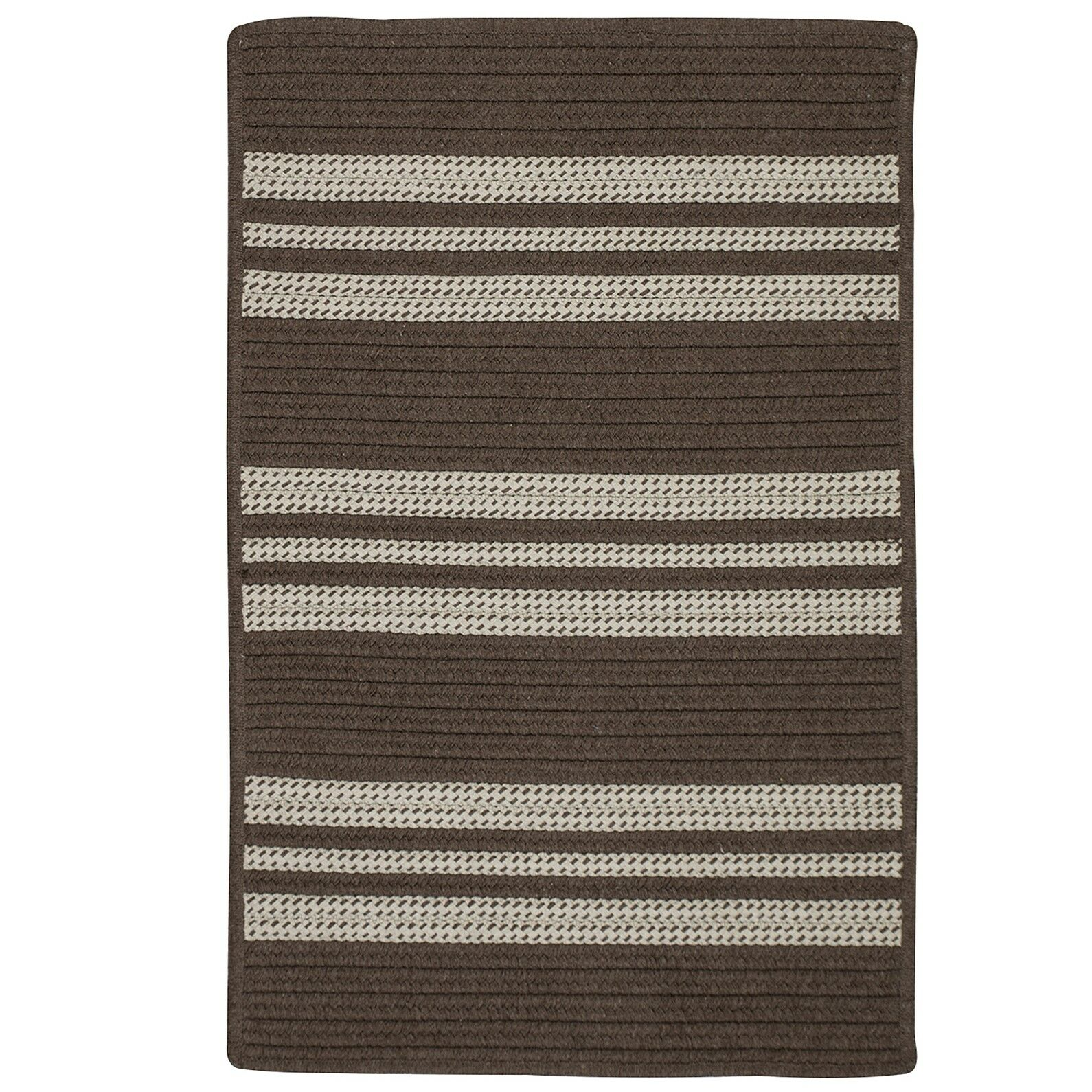 Neponset Hand-Woven Brown Indoor/Outdoor Area Rug Rug Size: 3' x 5'