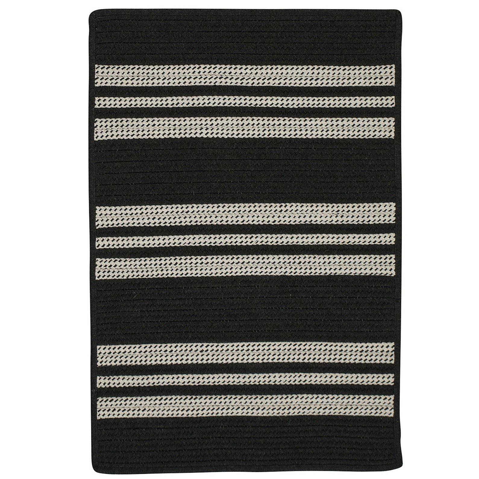 Neponset Hand-Woven Black Indoor/Outdoor Area Rug Rug Size: 8' x 10'