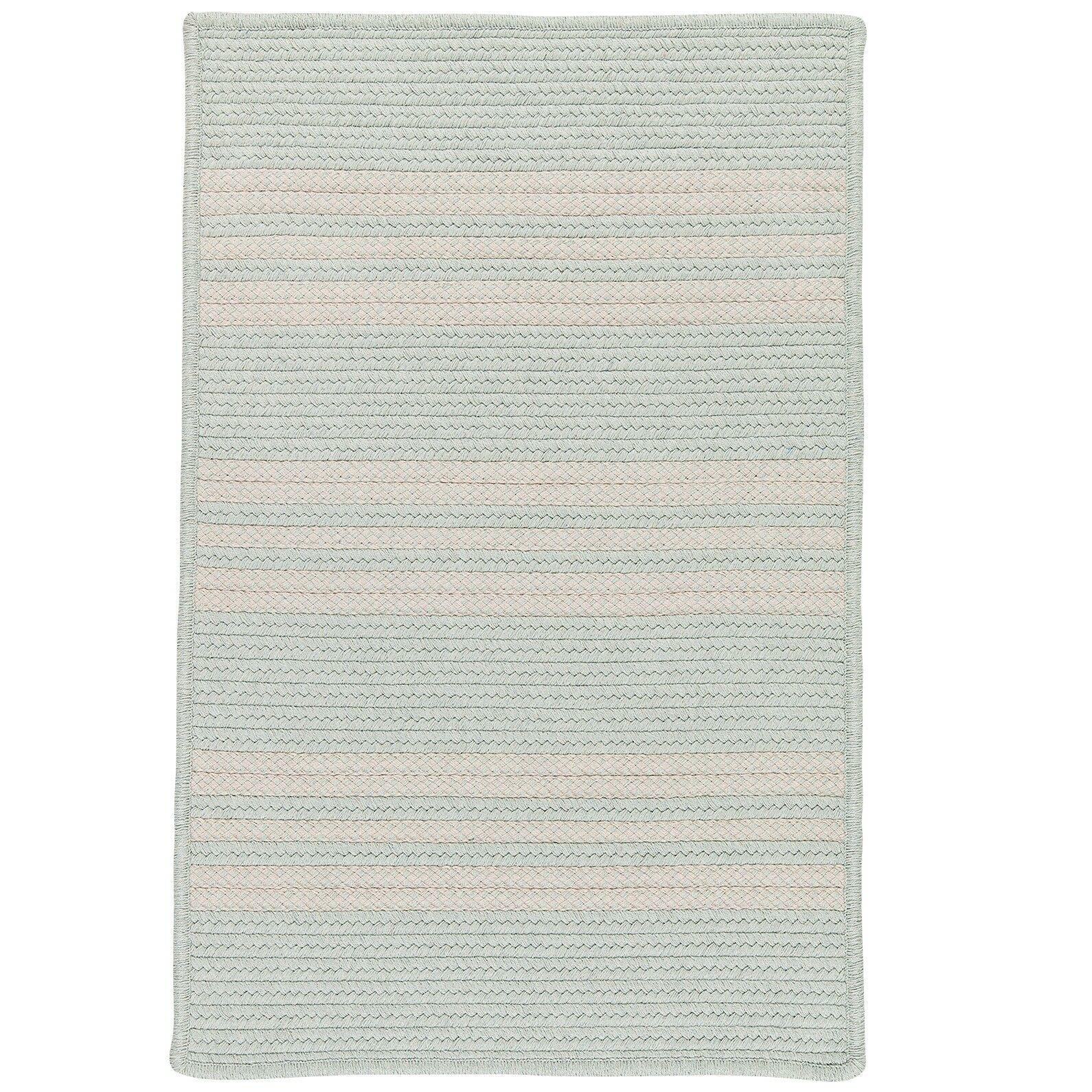 Neponset Hand-Woven Green Indoor/Outdoor Area Rug Rug Size: 5' x 7'