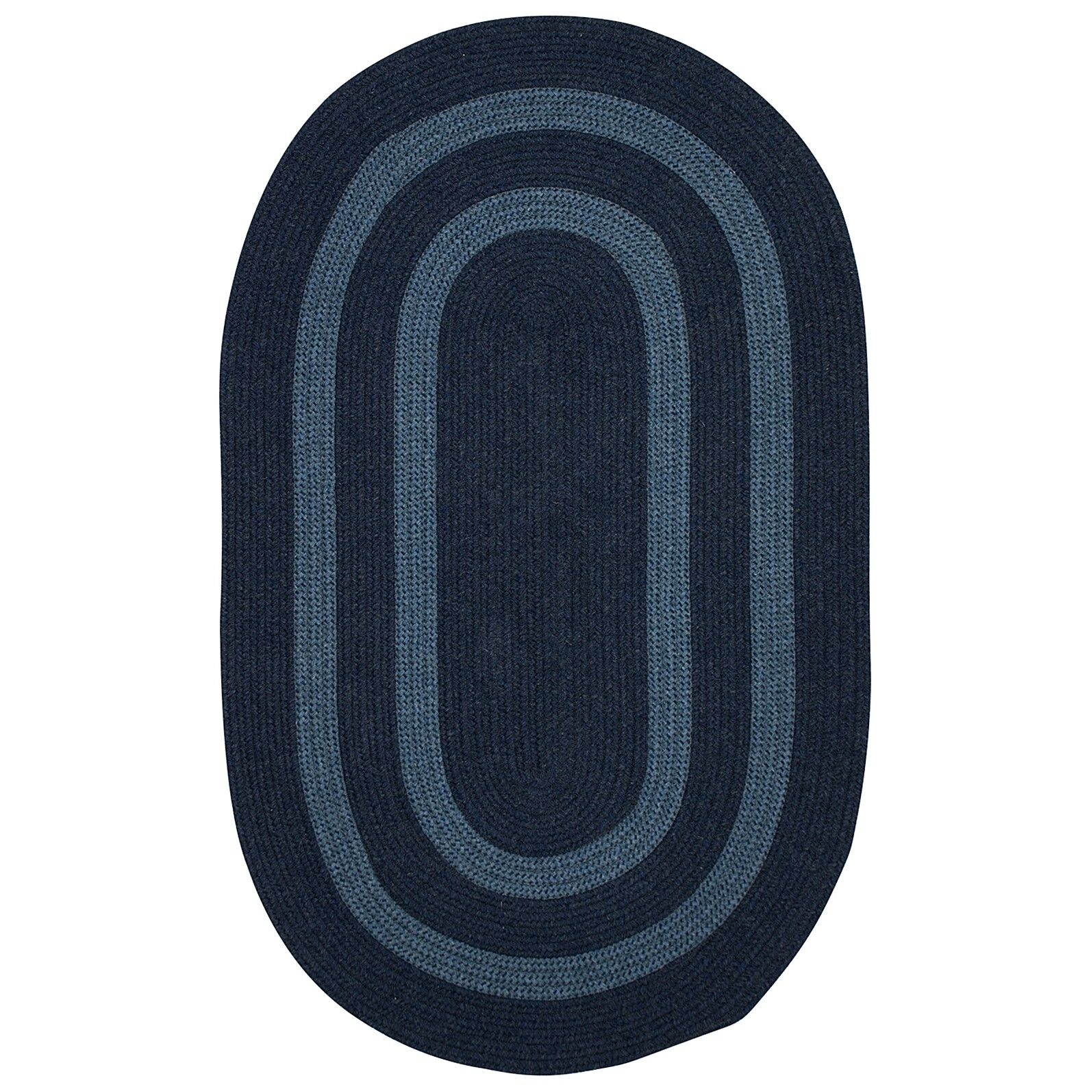 Westfield Hand-Woven Wool Blue Area Rug Rug Size: Round 4'
