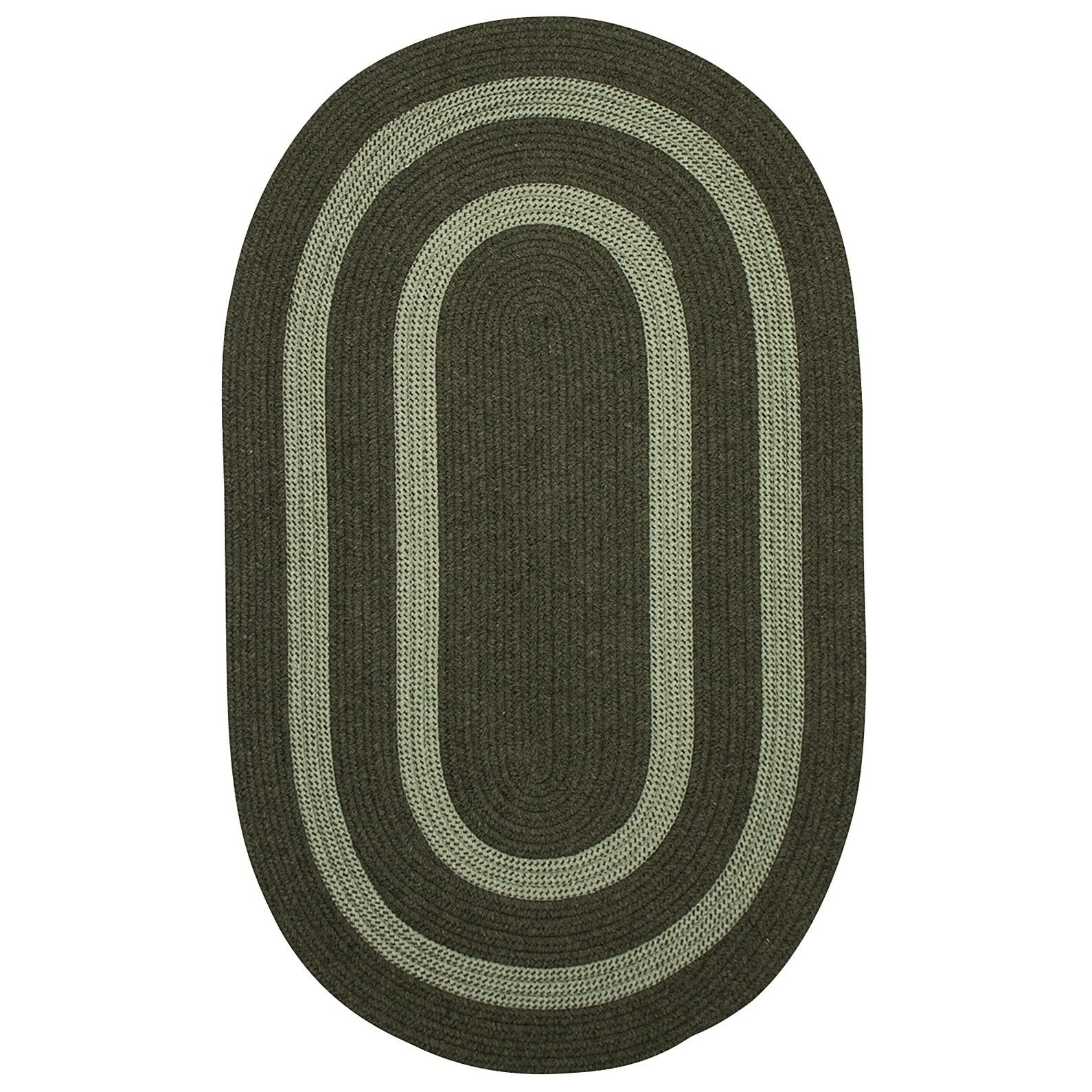 Westfield Hand-Woven Green Area Rug Rug Size: Oval 12' x 15'