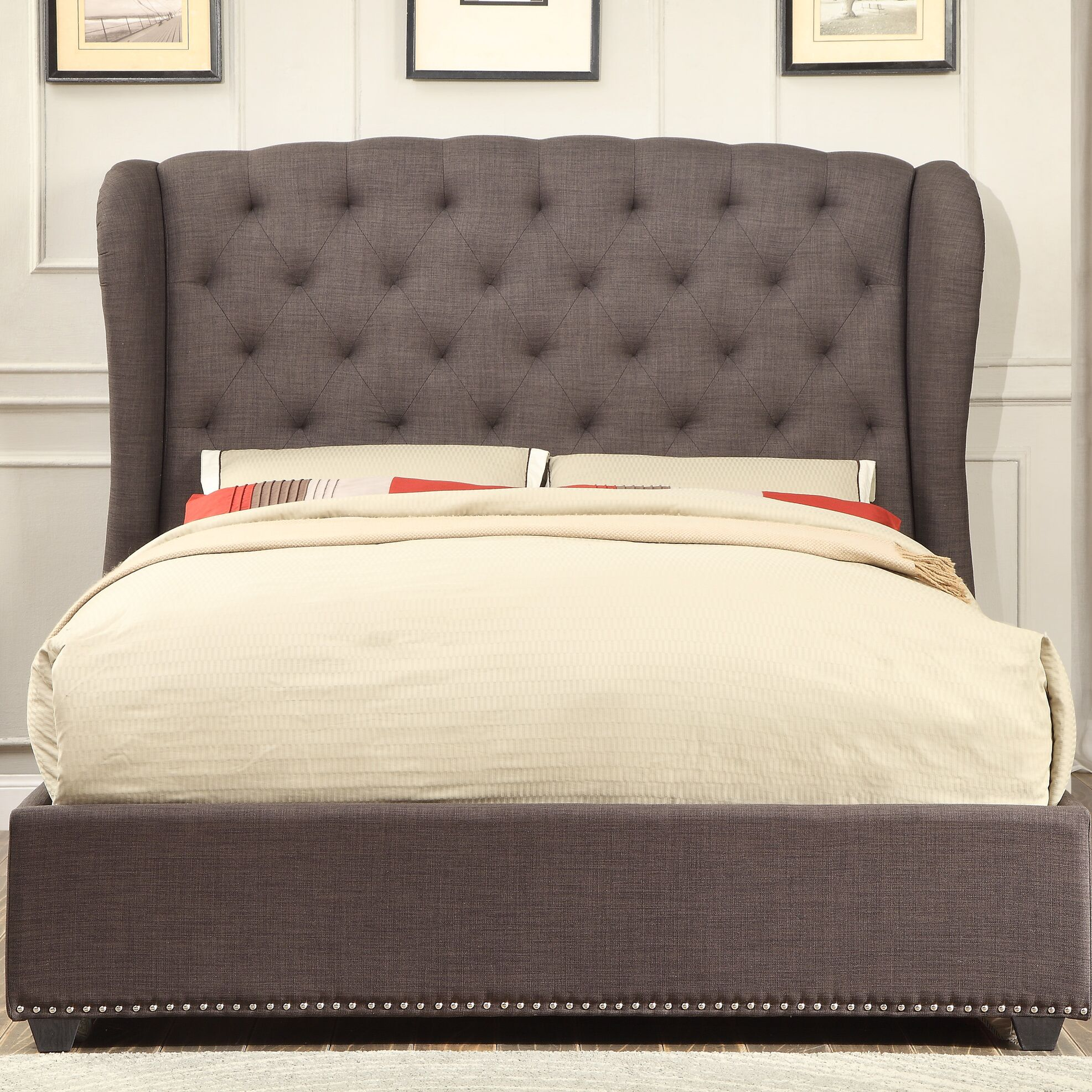Bridgeview Upholstered Panel Bed Size: Full