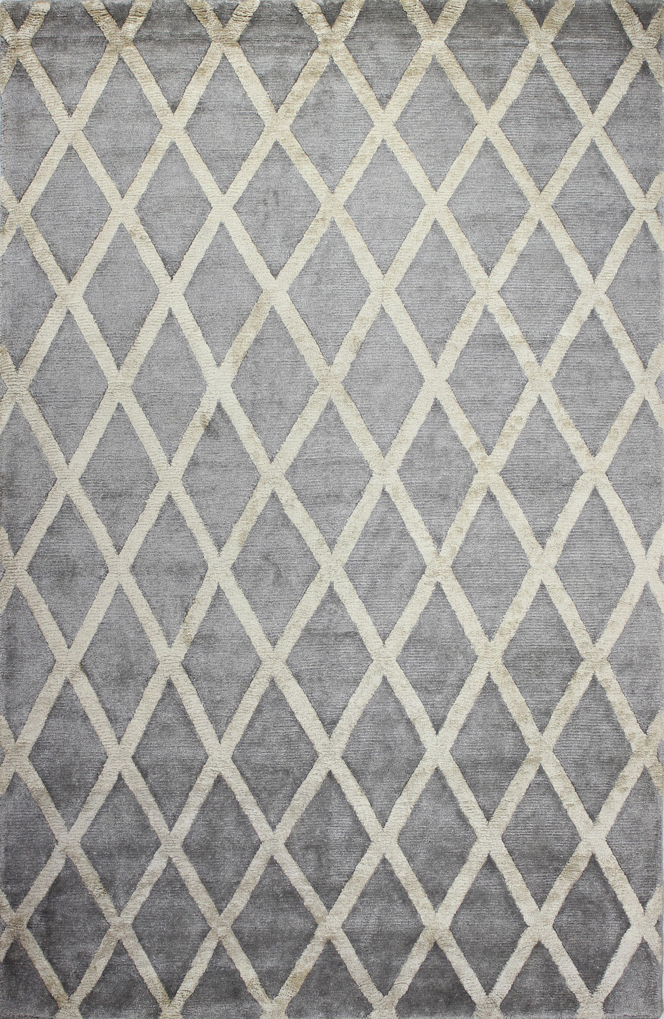 Summerset Hand-Tufted Pewter Area Rug Rug Size: Rectangle 8'6