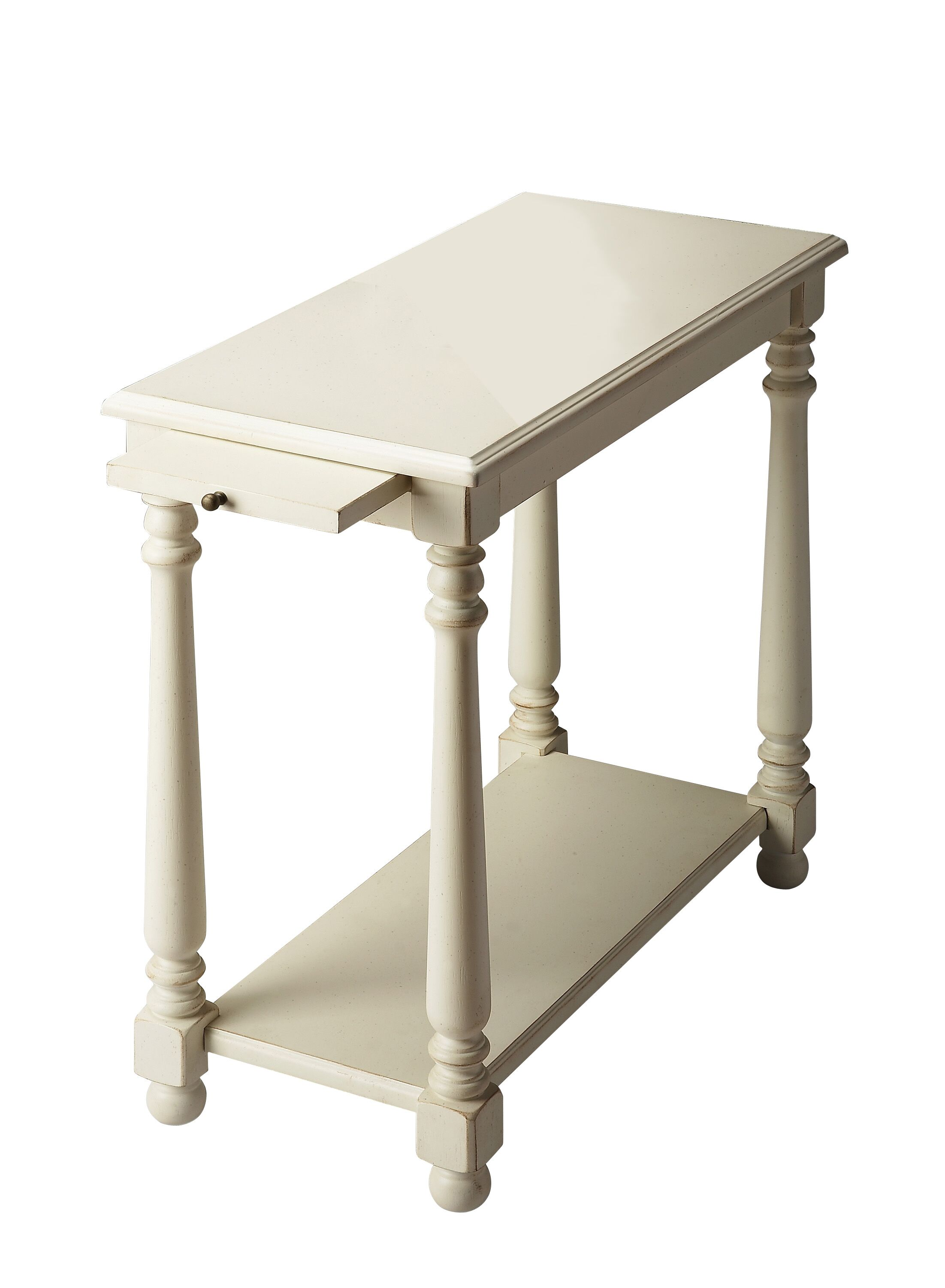Heisler Console End Table Color: Distressed Cottage White