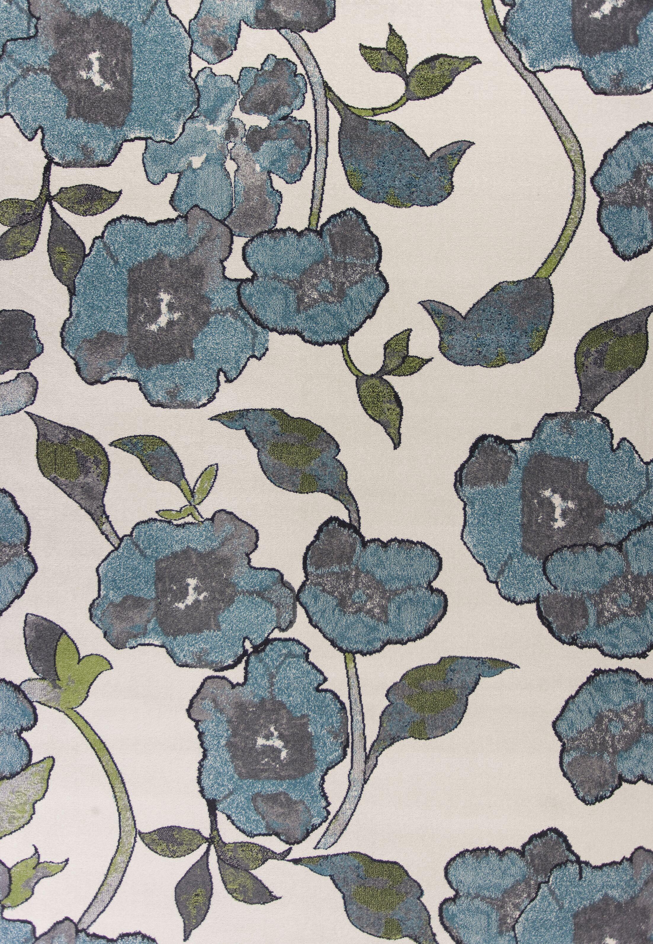 Aisha Ivory/Cream Area Rug Rug Size: Rectangle 7'10