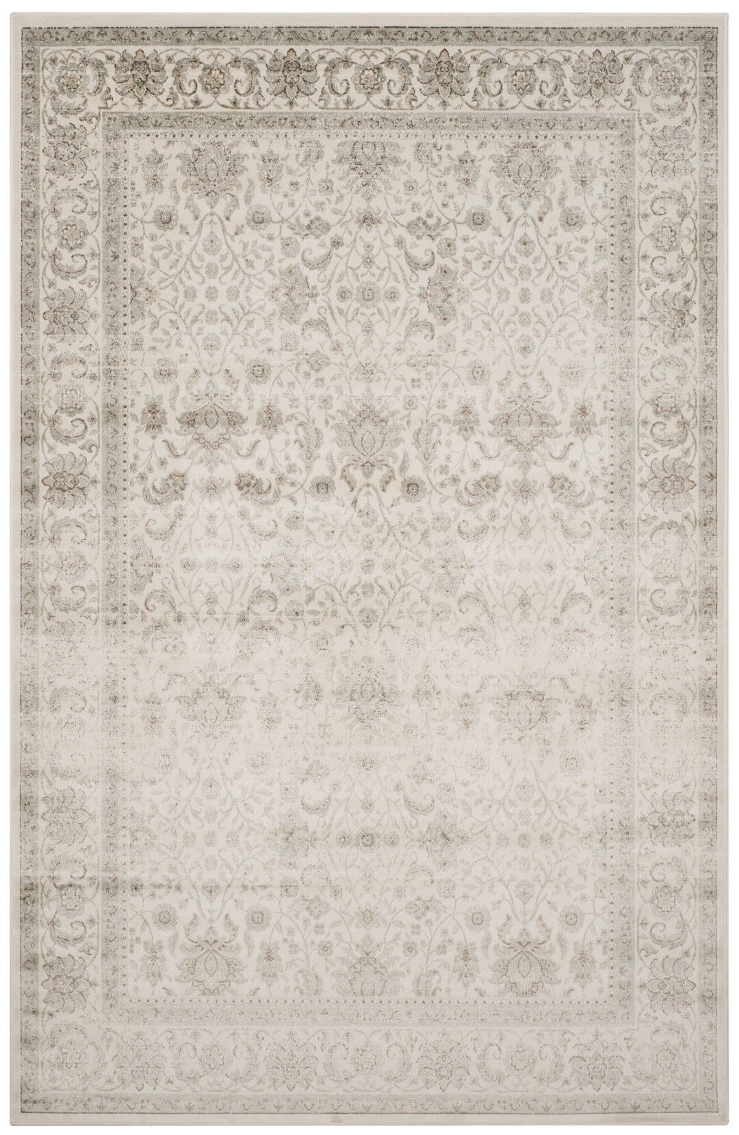 Setser Ivory/Silver Area Rug Rug Size: Rectangle 6'7