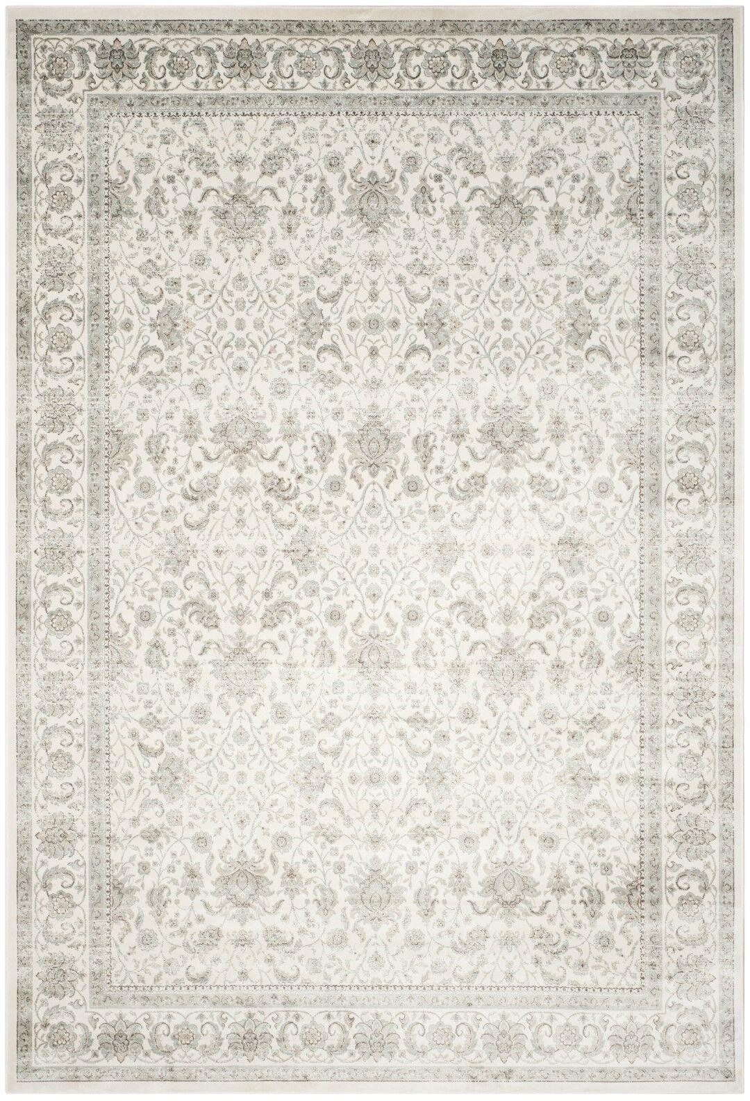 Setser Ivory/Silver Area Rug Rug Size: Rectangle 8' x 11'2