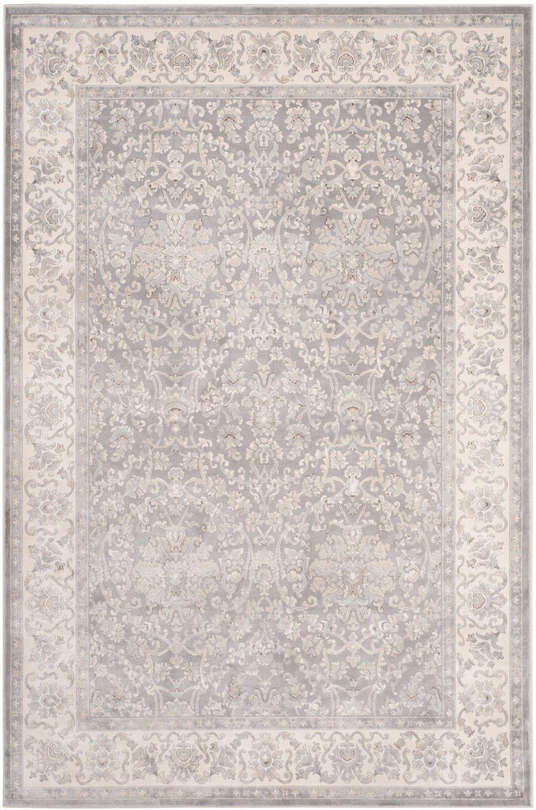 Setser Silver/Ivory Area Rug Rug Size: Rectangle 8' x 11'