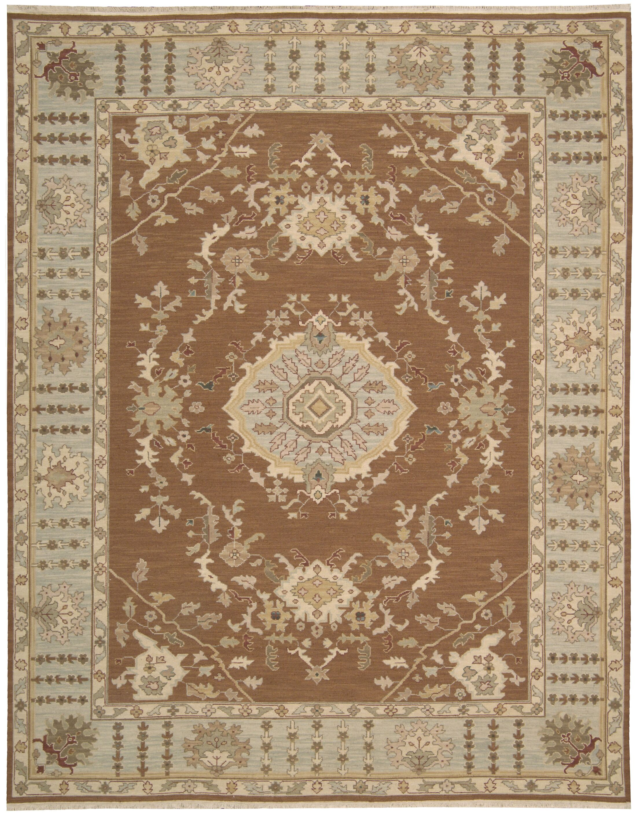 Cullen Hand-Woven Rust Area Rug Rug Size: Rectangle 5'10