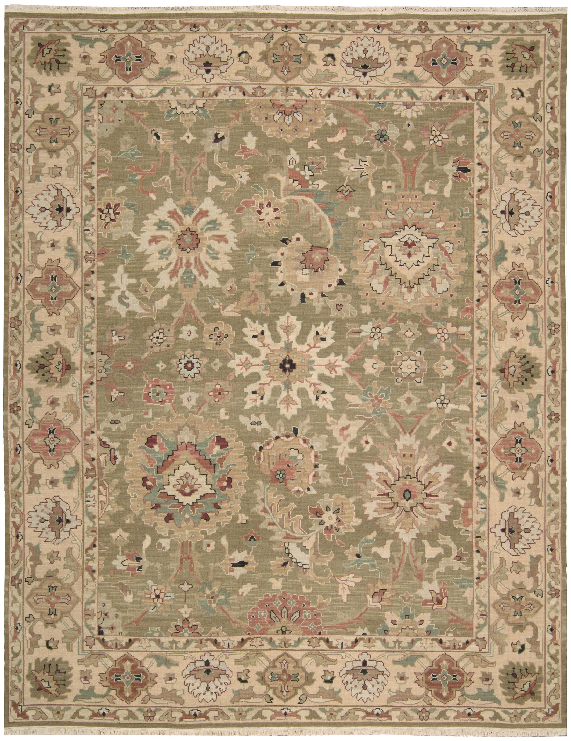 Cullen Hand-Woven Olive Area Rug Rug Size: Rectangle 12' x 15'
