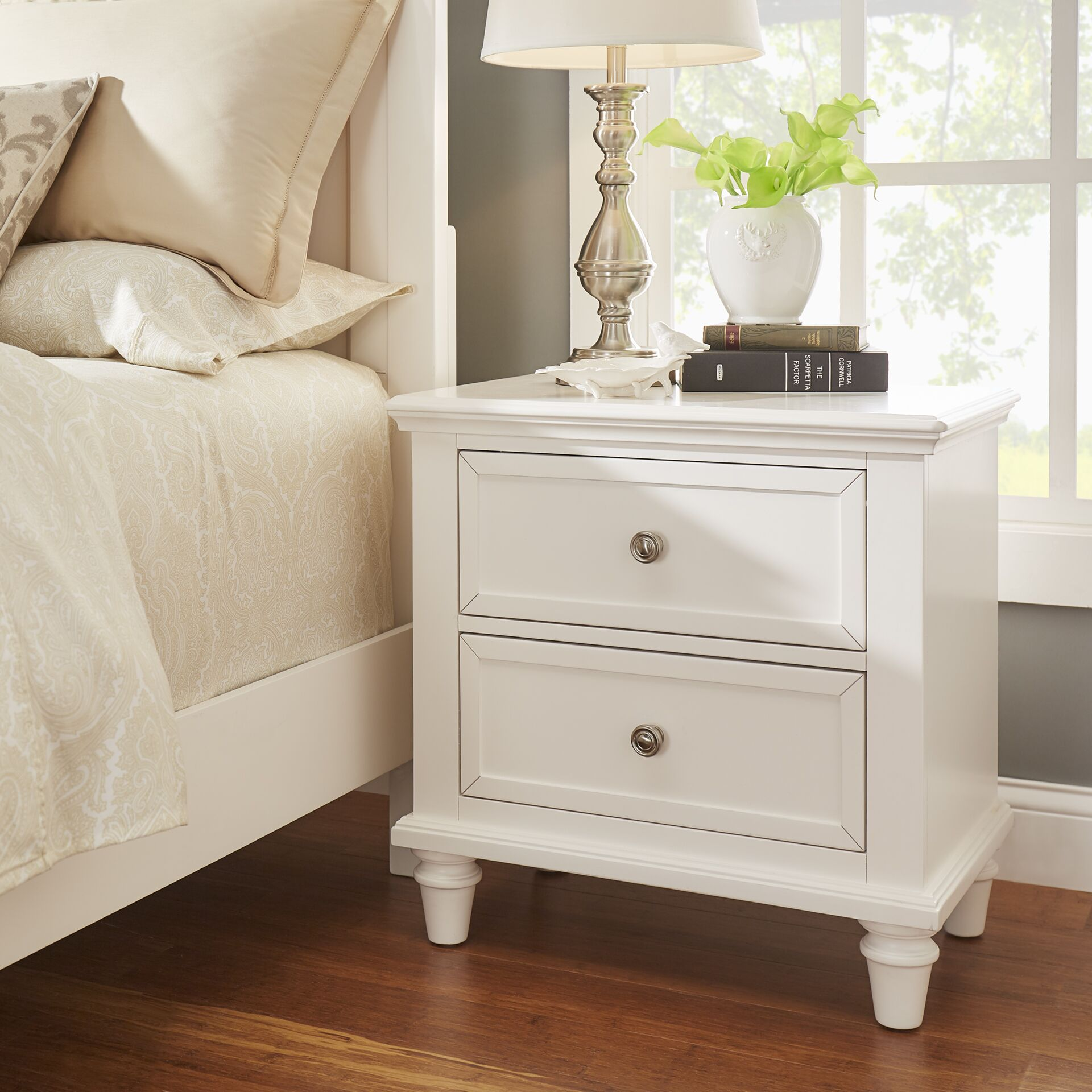 Rae 2 Drawer Nightstand Color: White
